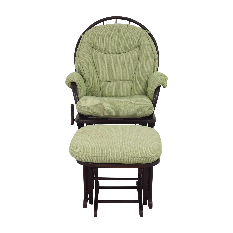 Dutailier Dutailier Glider Chair with Ottoman nj