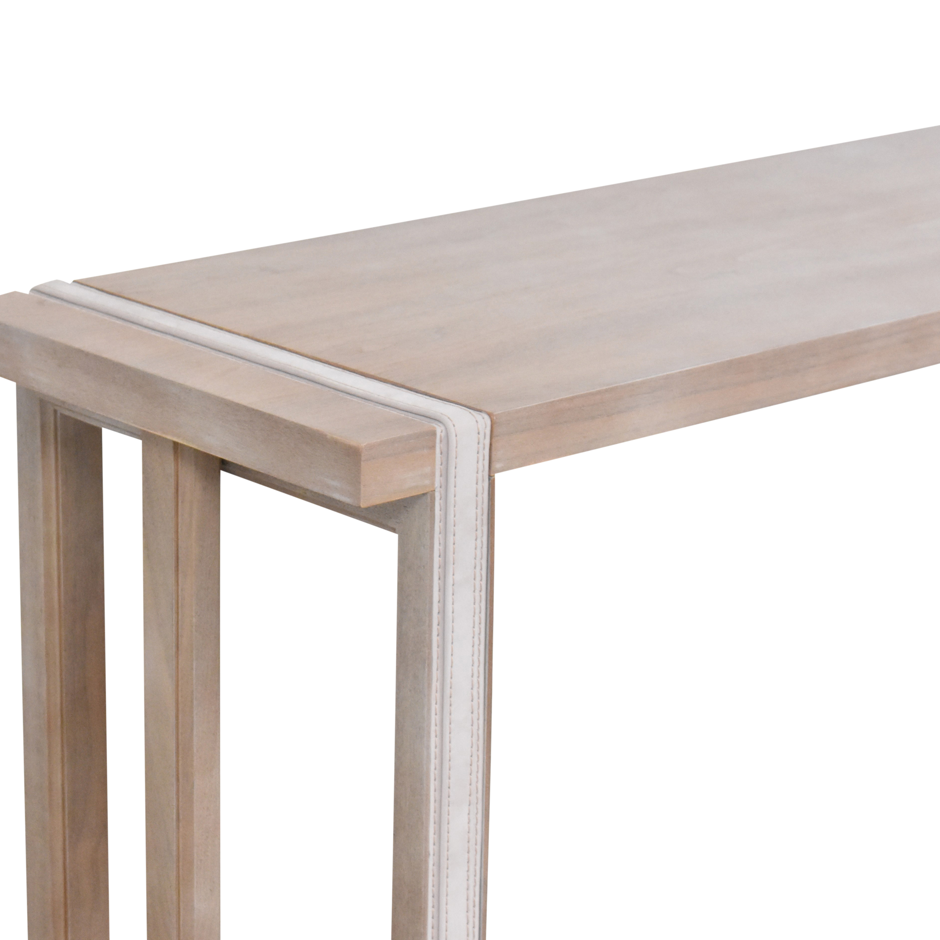 The New Traditionalists The New Traditionalists Console Table with Belt Detail nj