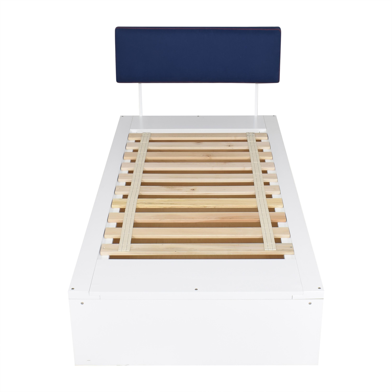 ducduc ducduc Alex Symmetric Platform Twin Bed white & blue