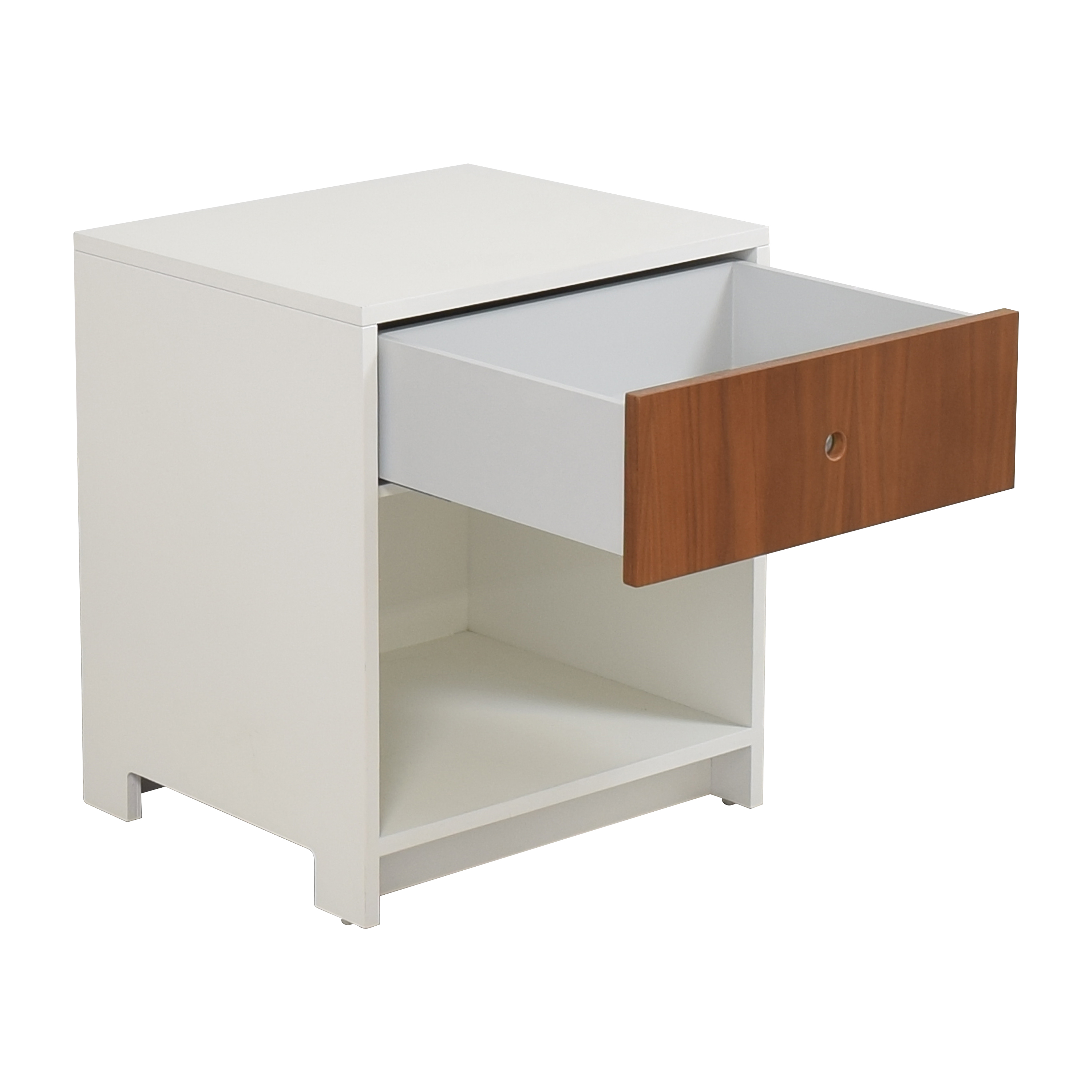 ducduc ducduc Parker One Drawer Nightstand white and brown