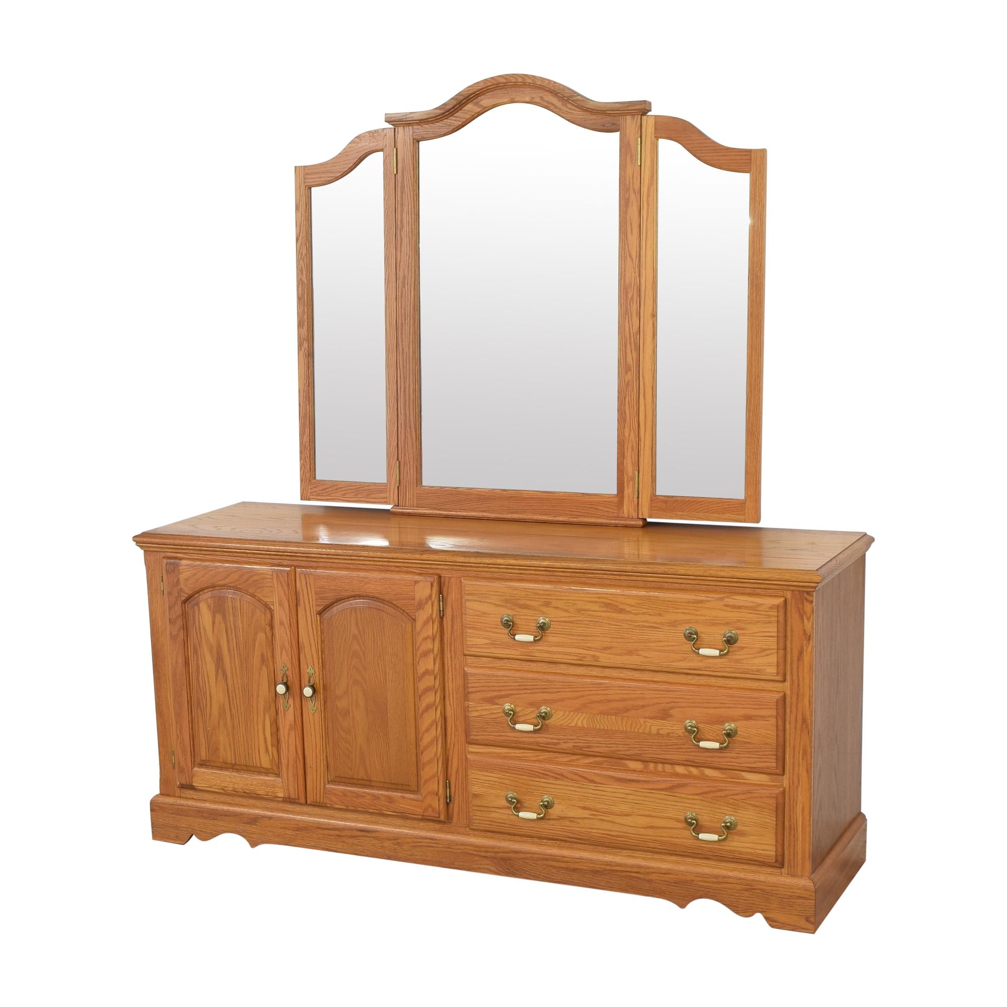Nathan Hale Nathan Hale Door Dresser and Triple Mirror on sale