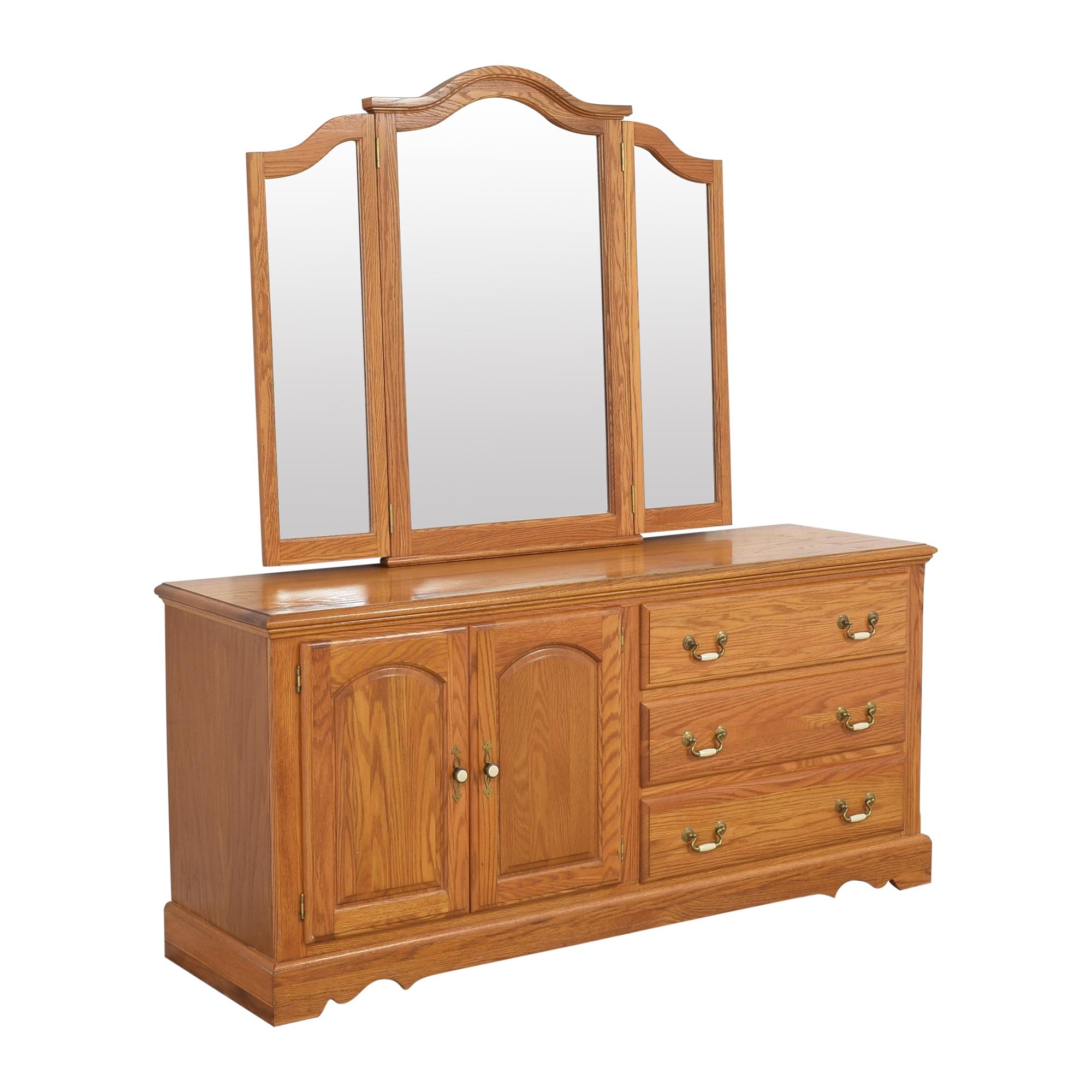 shop Nathan Hale Door Dresser and Triple Mirror Nathan Hale Dressers