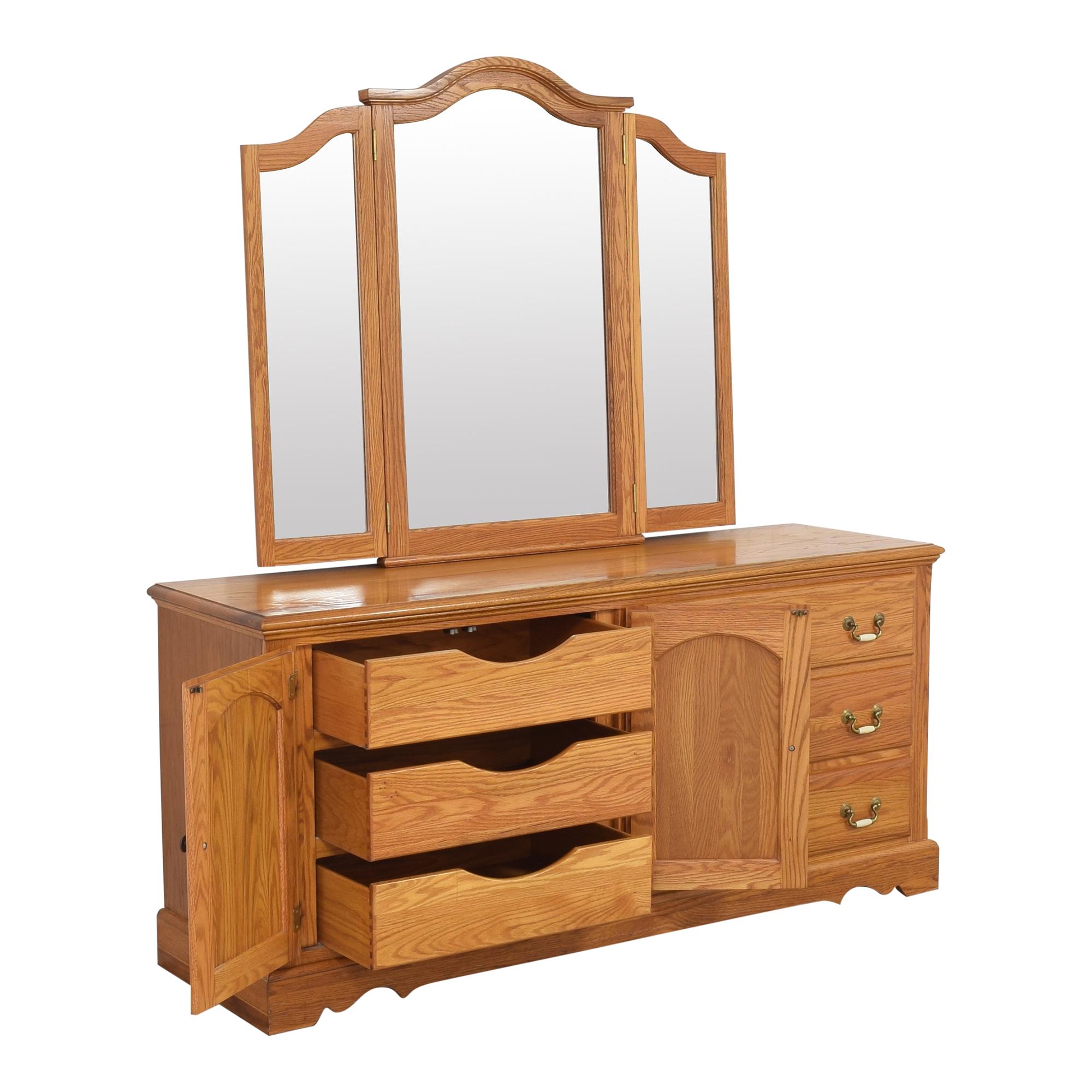 Nathan Hale Door Dresser and Triple Mirror / Dressers