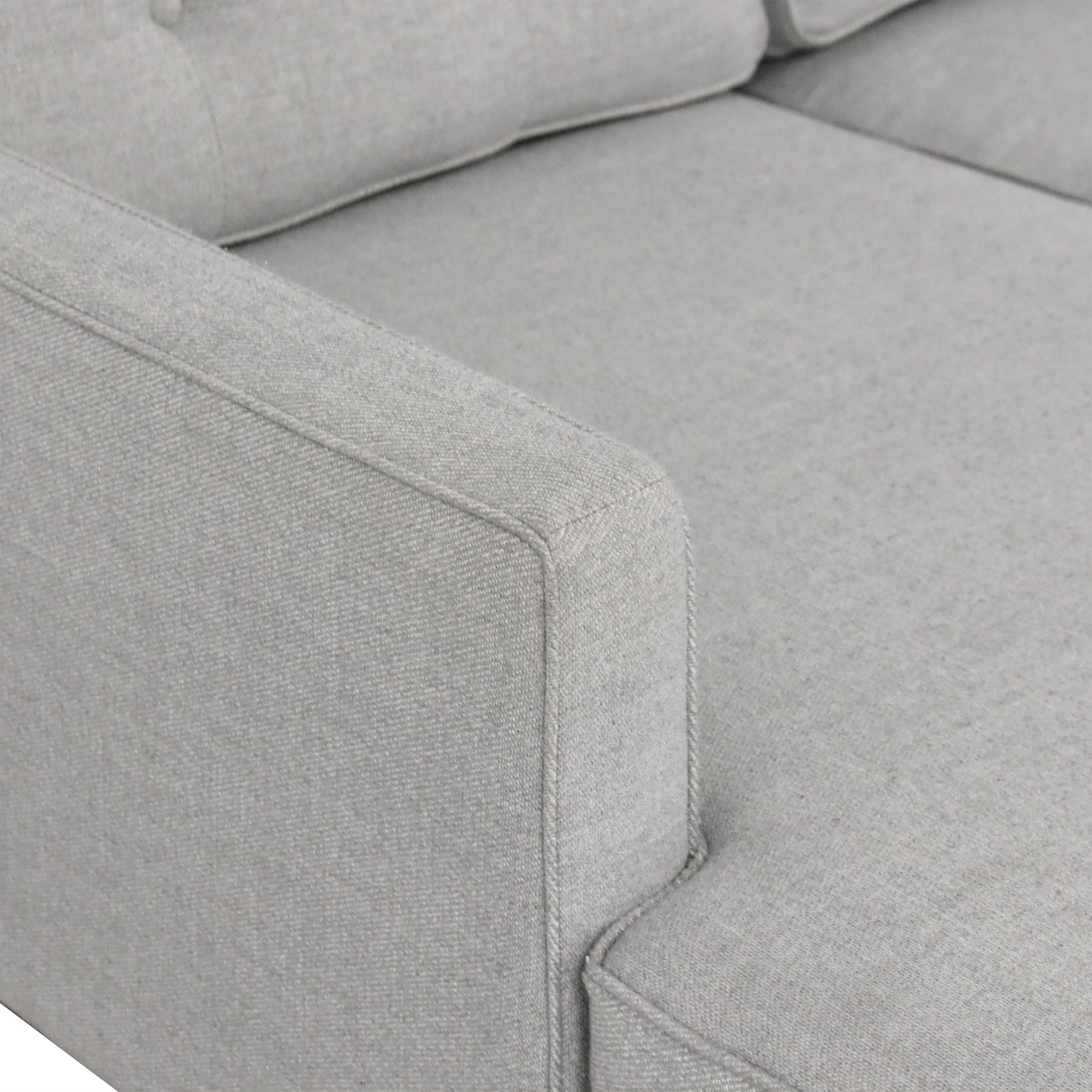 West Elm West Elm Drake Reversible Chaise Sectional Sofa on sale