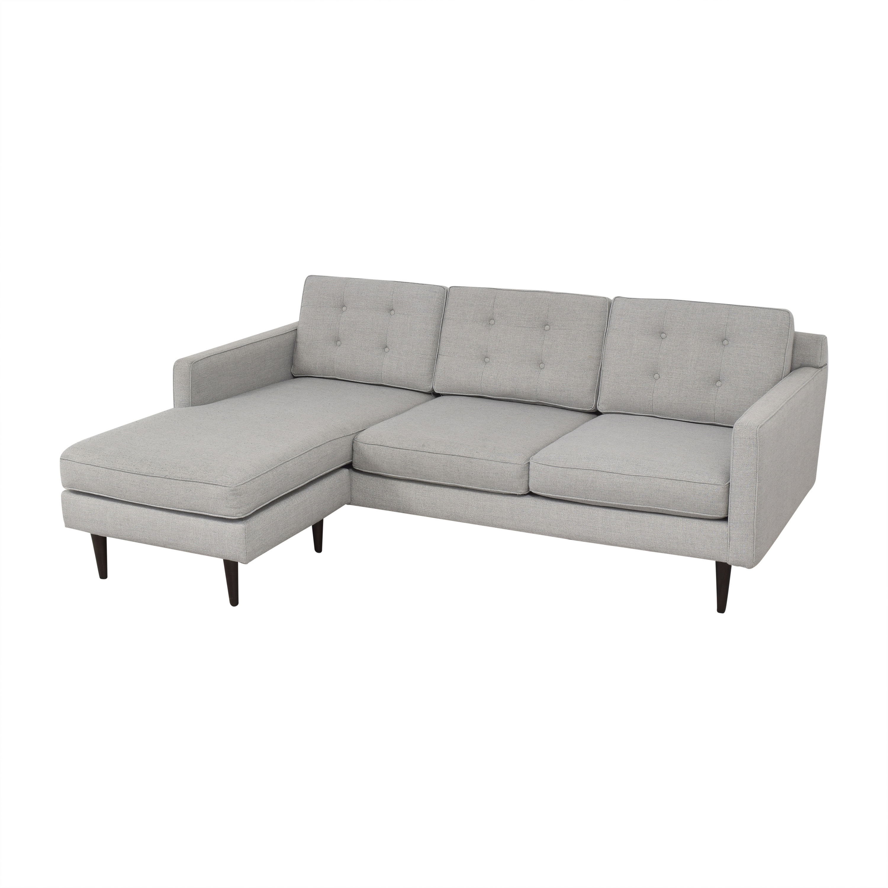 West Elm West Elm Drake Reversible Chaise Sectional Sofa ma