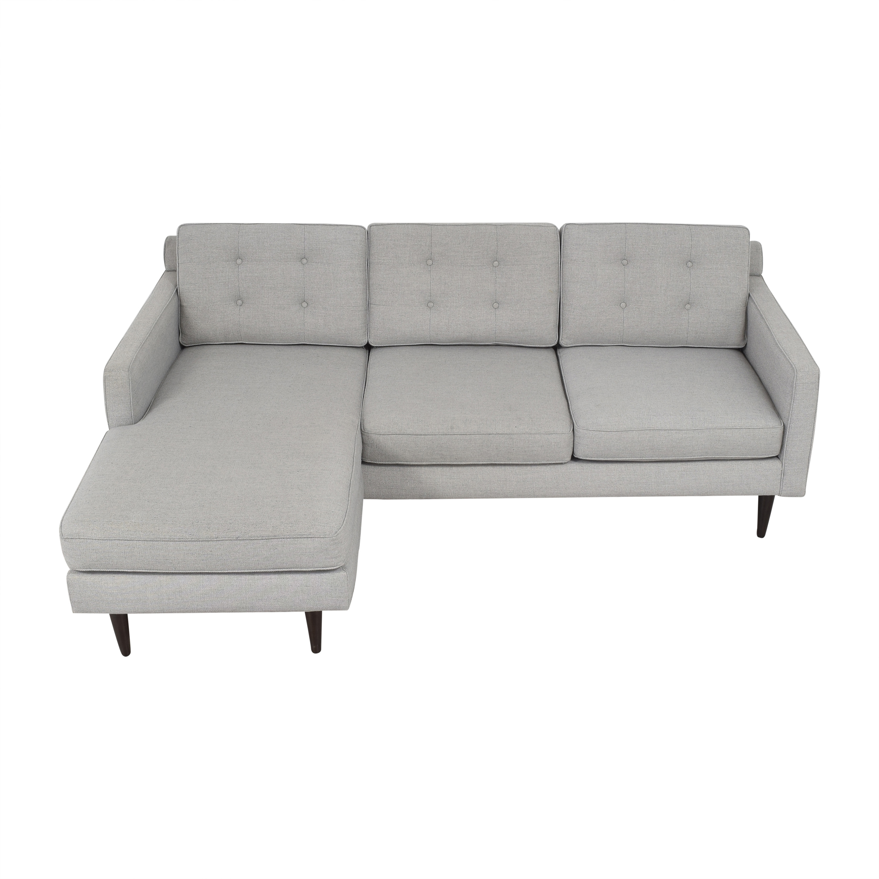 West Elm West Elm Drake Reversible Chaise Sectional Sofa second hand