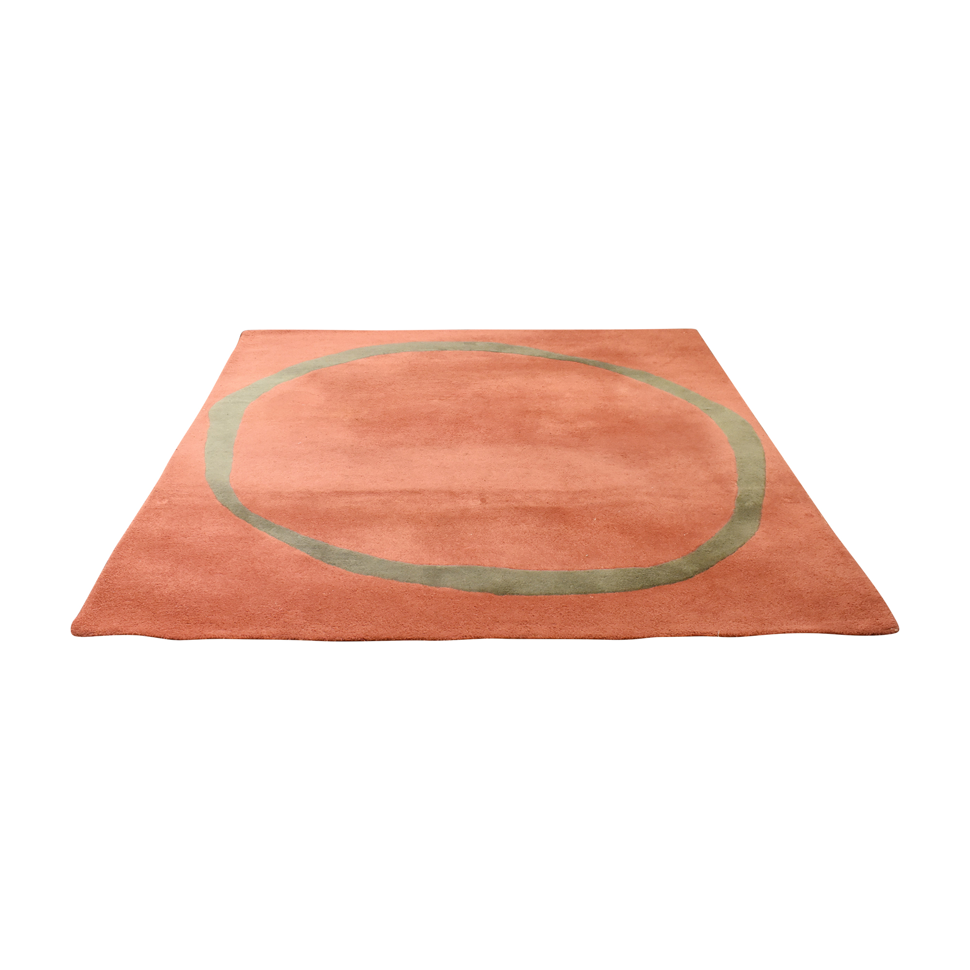 Ring Pattern Area Rug red