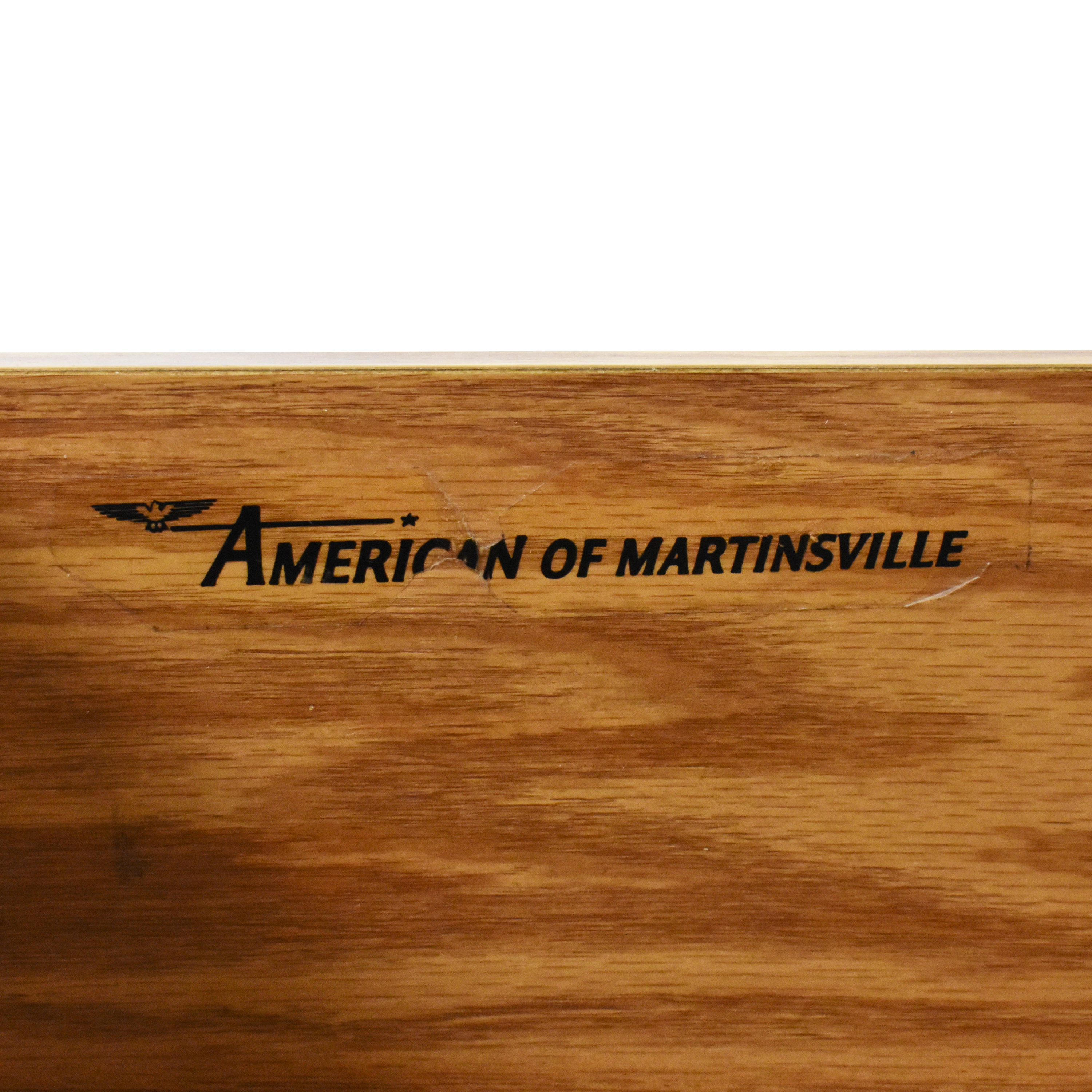 American of Martinsville American of Martinsville Two Drawer End Table ct