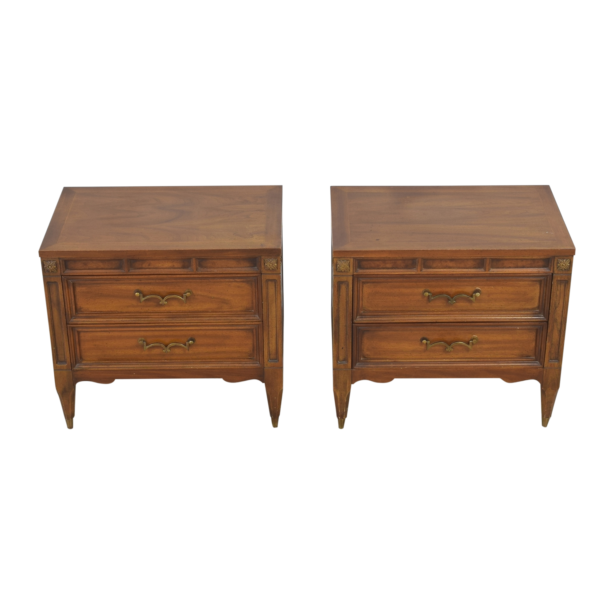 American of Martinsville Two Drawer Nightstands American of Martinsville