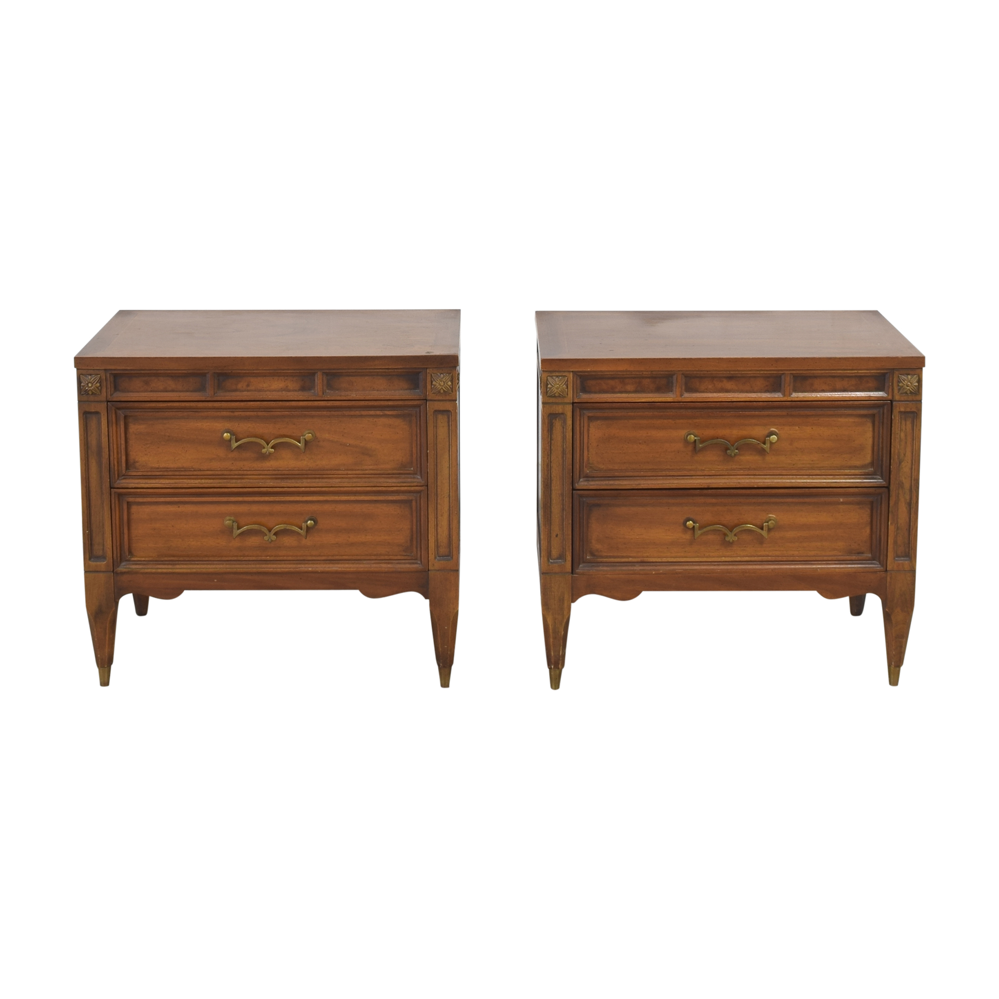 American of Martinsville American of Martinsville Two Drawer Nightstands End Tables