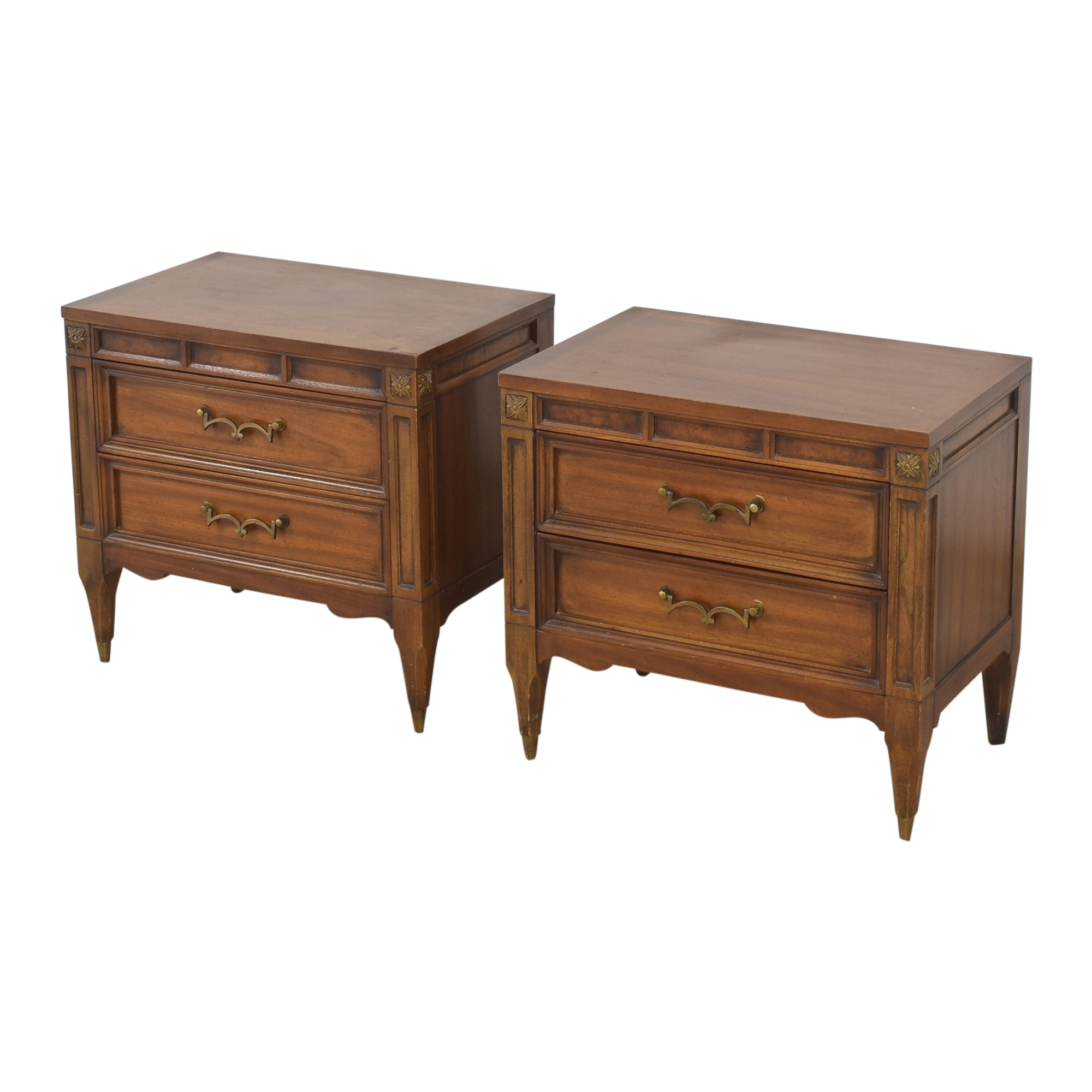American of Martinsville Two Drawer Nightstands sale