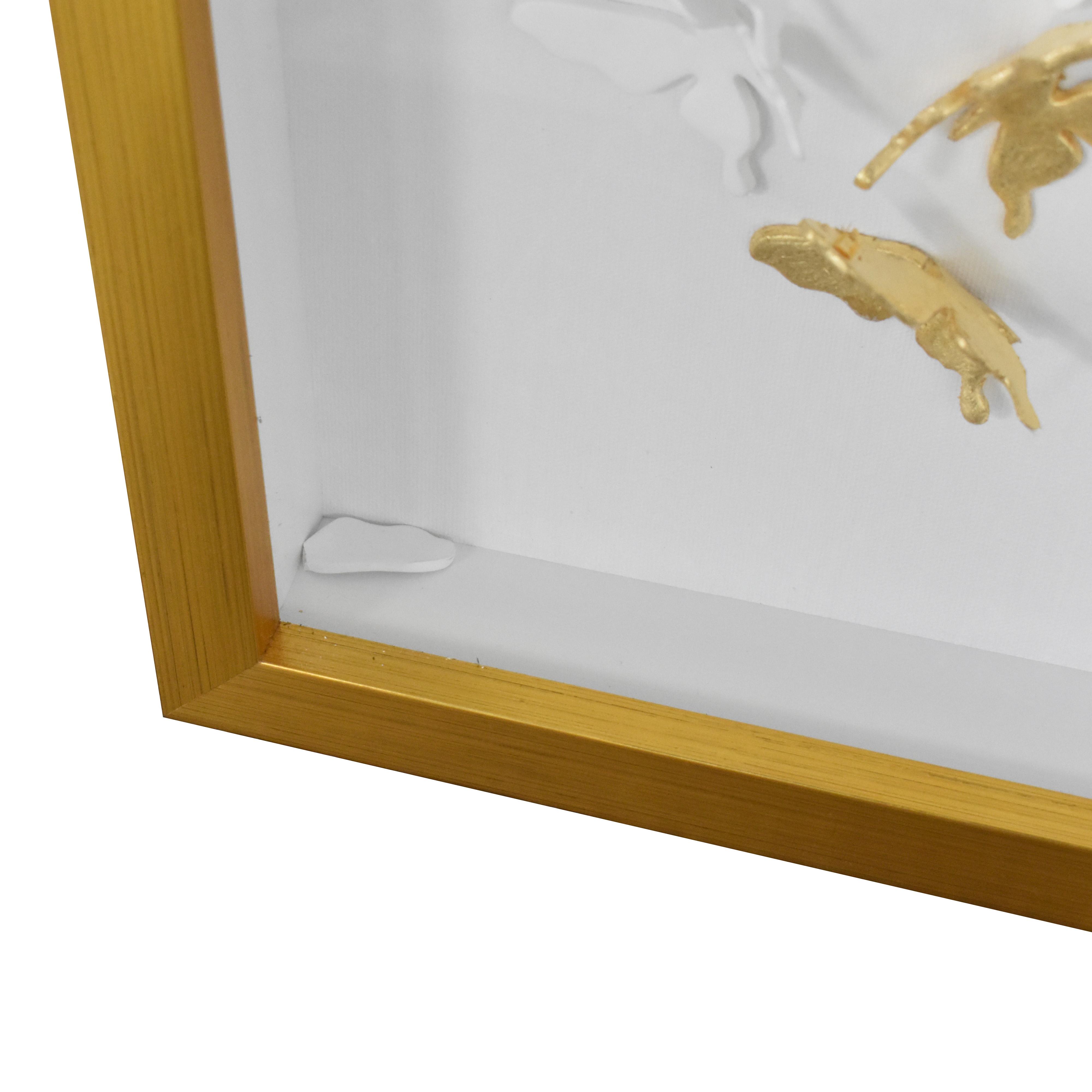 Modsy Modsy Framed Golden Butterfly III Wall Art