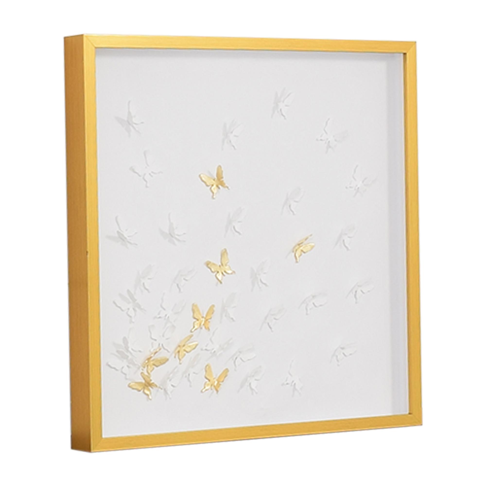 Modsy Framed Golden Butterfly III Wall Art Modsy