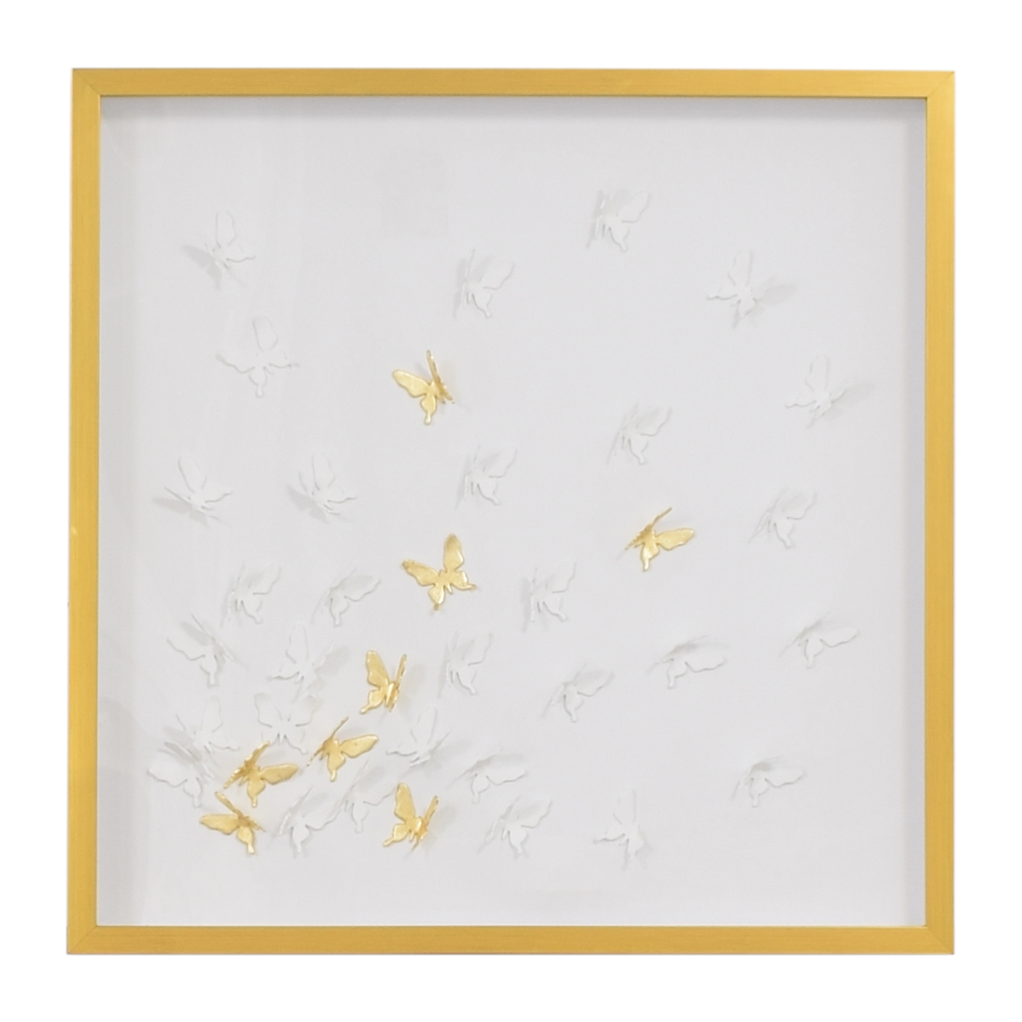 shop Modsy Framed Golden Butterfly III Wall Art Modsy Decor