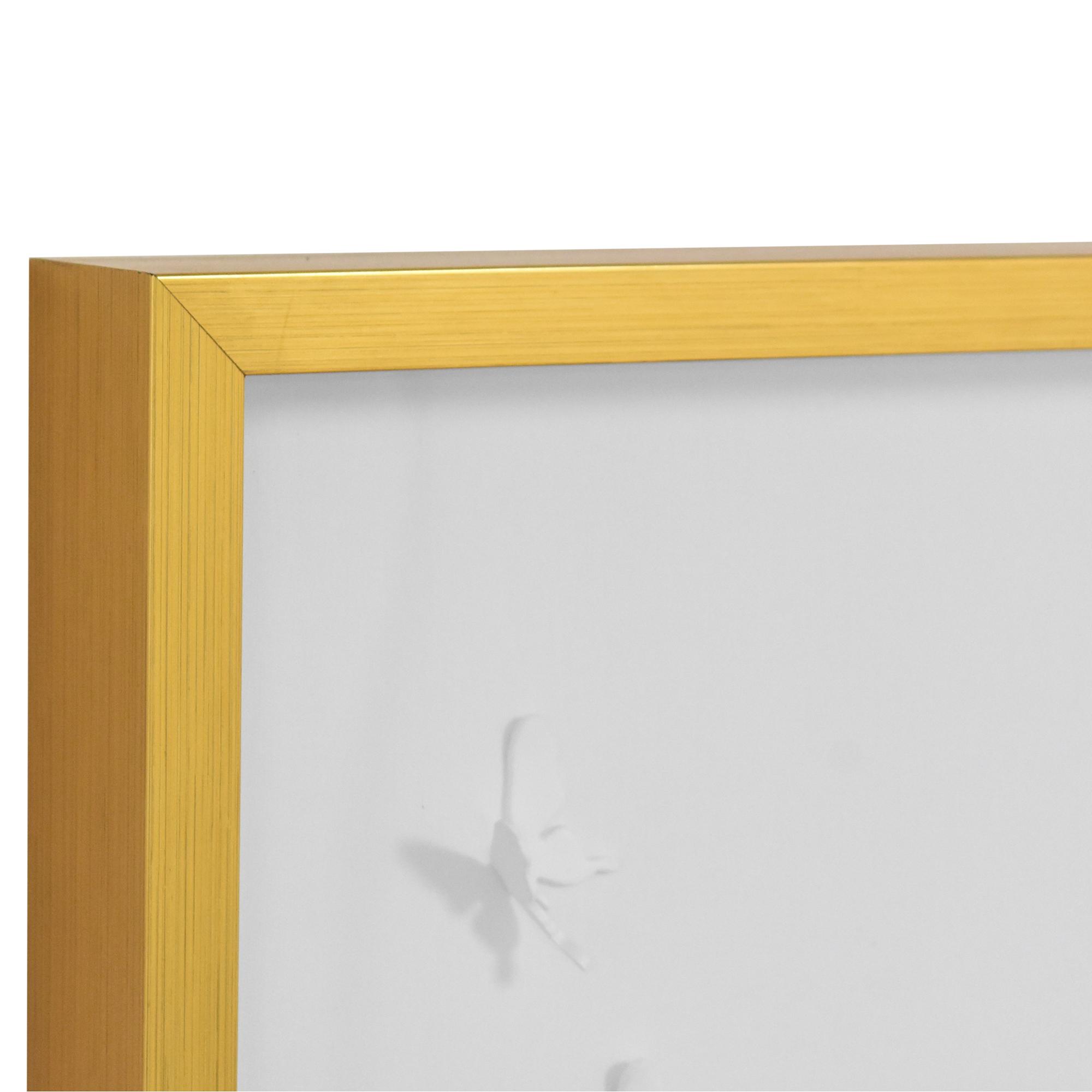buy Modsy Framed Golden Butterfly III Wall Art Modsy Wall Art
