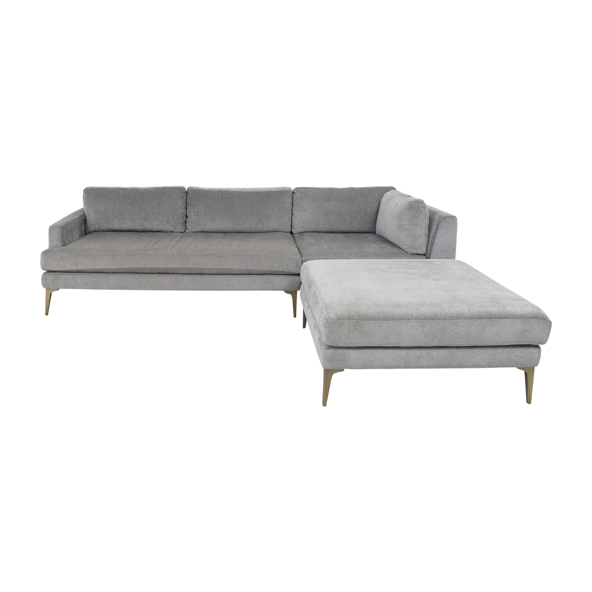 buy West Elm Andes Three Piece Chaise Sectional West Elm Sofas