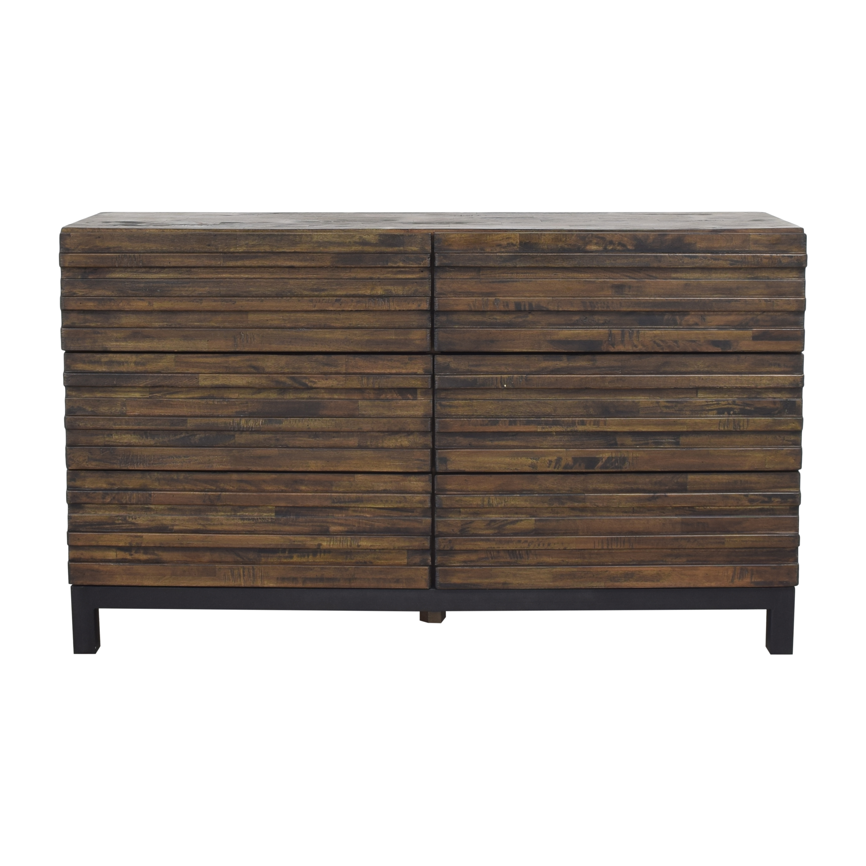 Raymour & Flanigan Nara Six Drawer Double Dresser sale