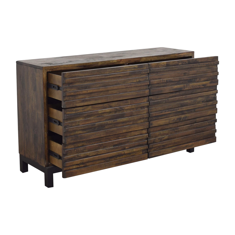 Raymour & Flanigan Nara Six Drawer Double Dresser / Dressers