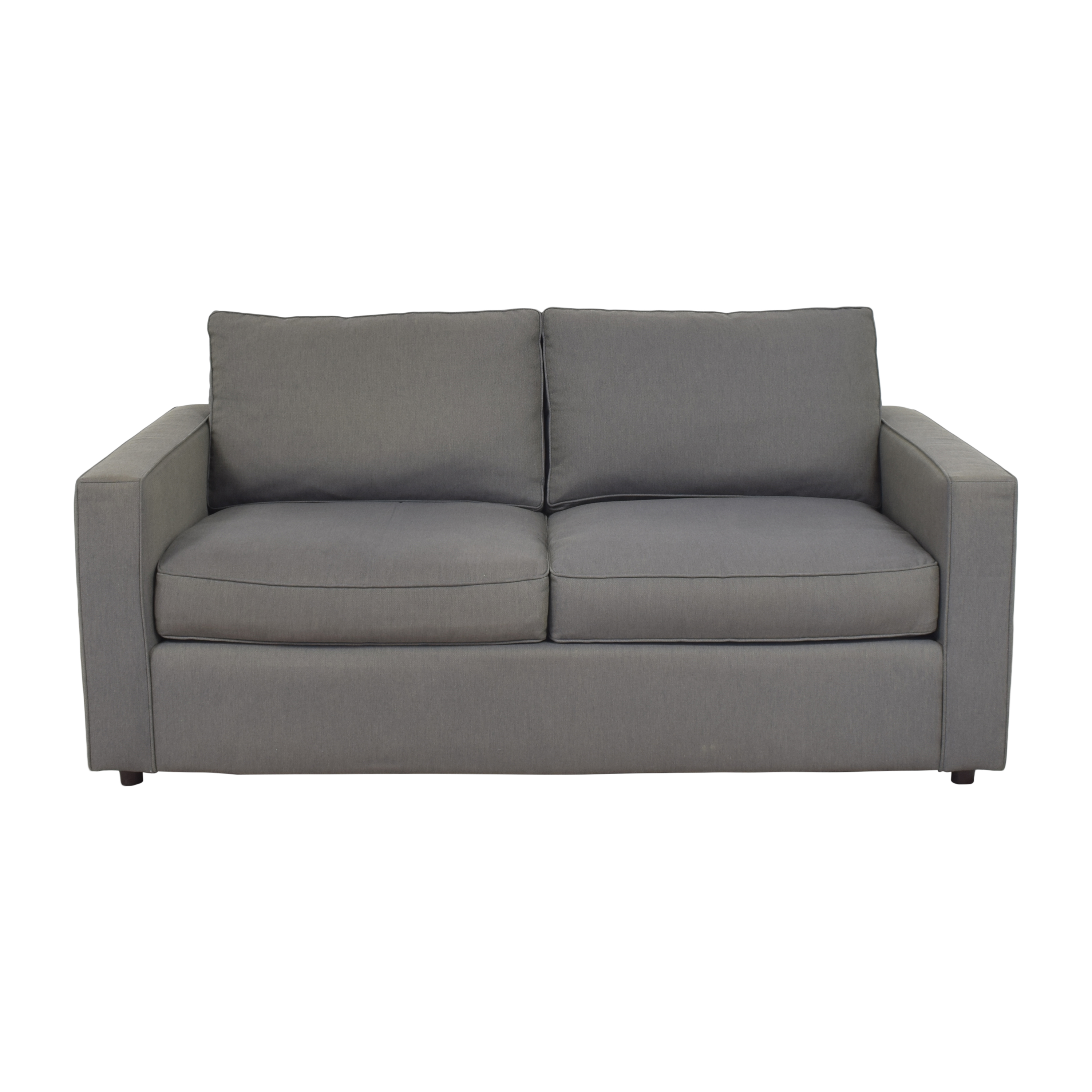 Room & Board Room & Board York Two Cushion Sofa grey