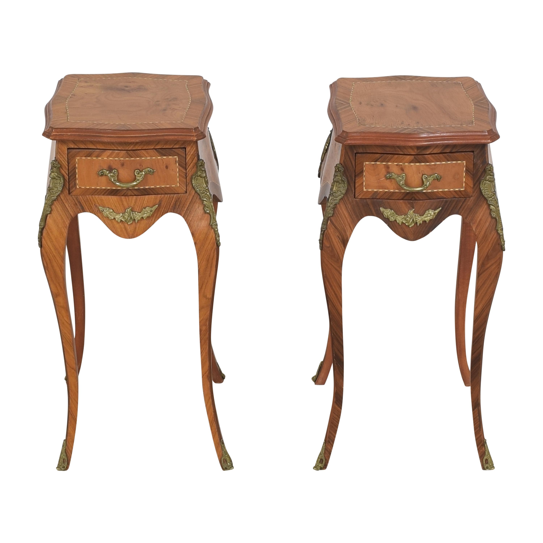 Ornate Side Tables brown