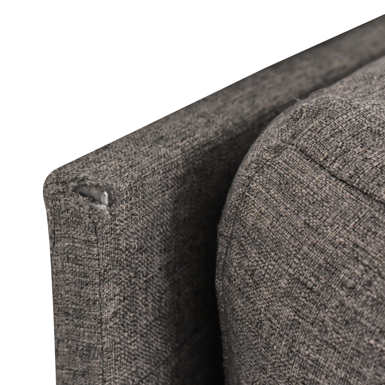 Wayfair Wayfair Zipcode Designs Cazenovia Sectional Sofa gray