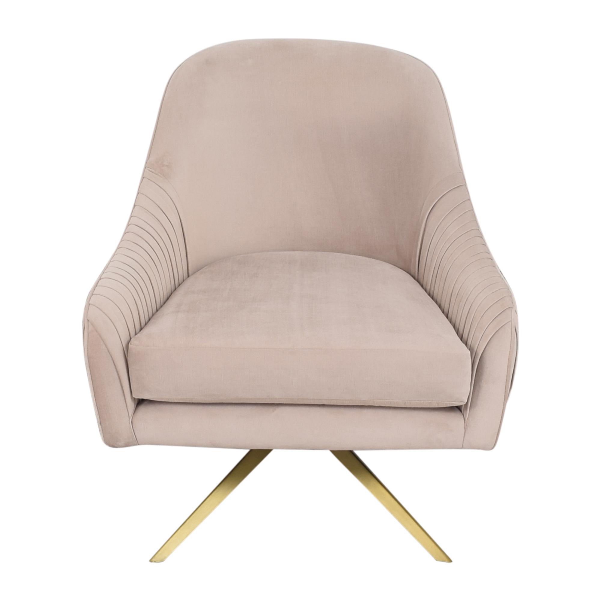 West Elm West Elm Roar & Rabbit Pleated Swivel Chair