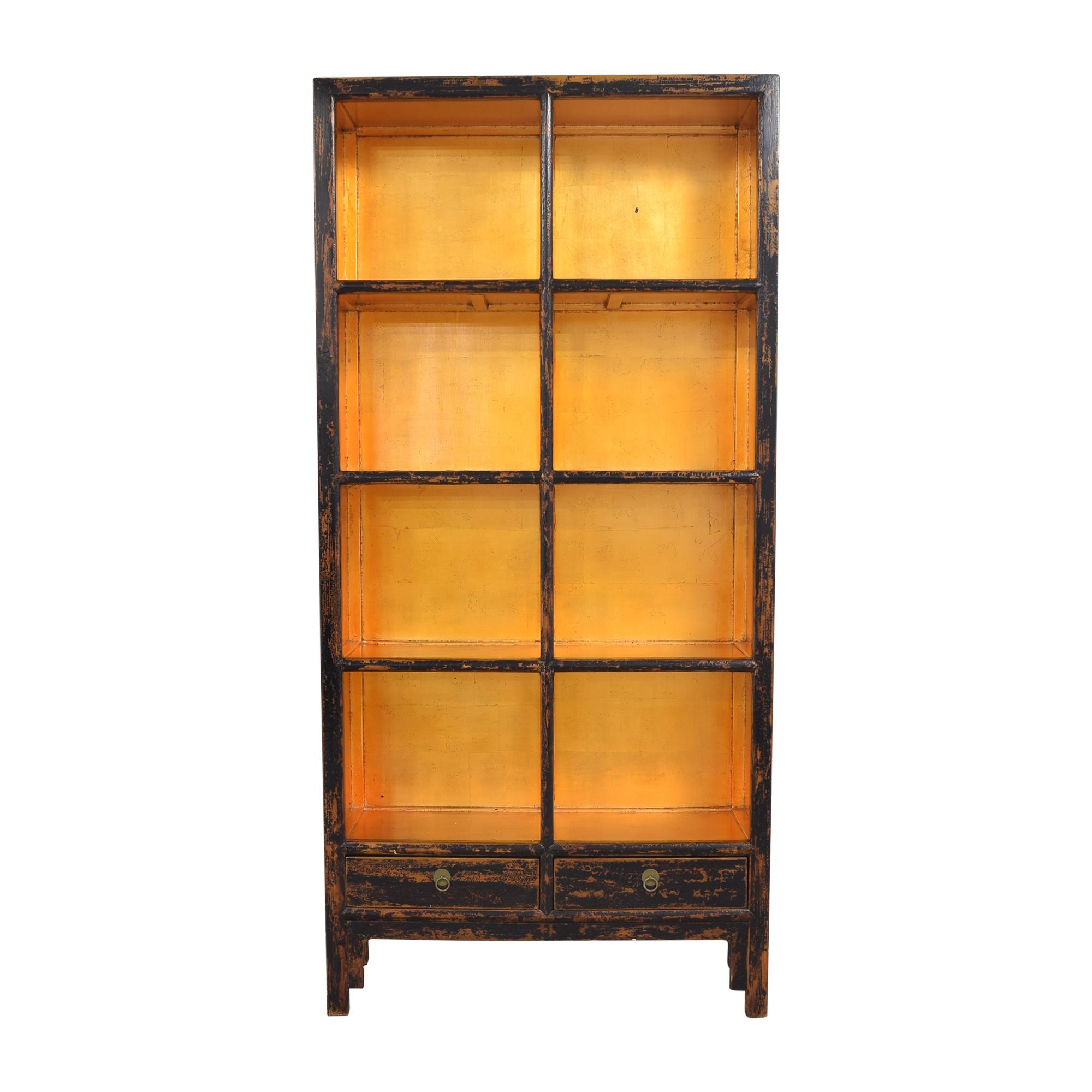 Decorative Four Shelf Bookcase Storage
