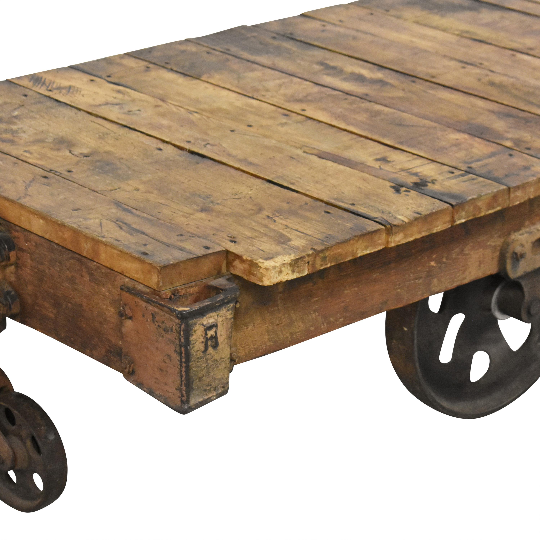 shop  Vintage Industrial Rolling Cart Coffee Table online
