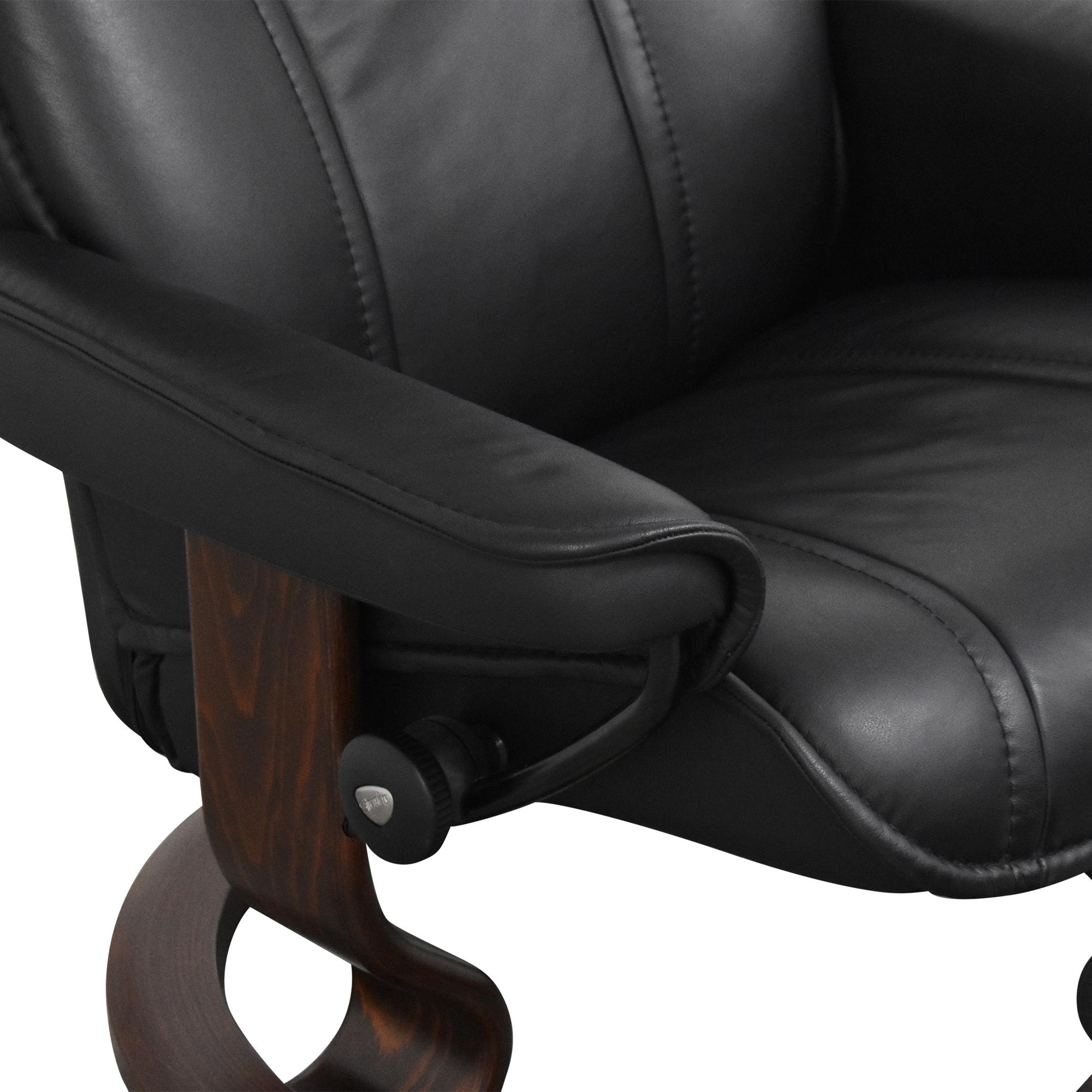 shop Ekornes Stressless Recliner with Ottoman  Ekornes Chairs