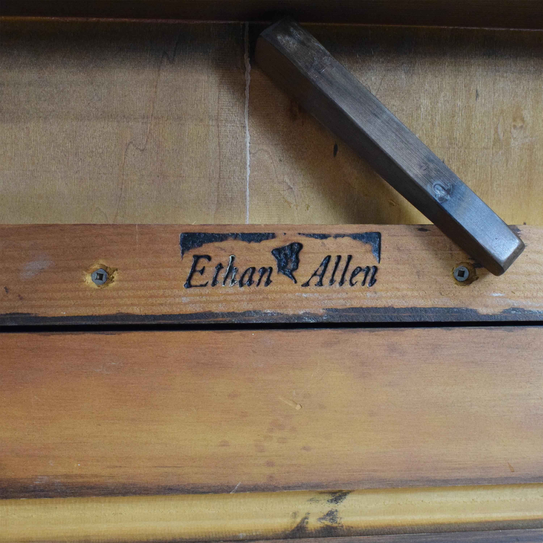 Ethan Allen Extendable Trestle Dining Table sale