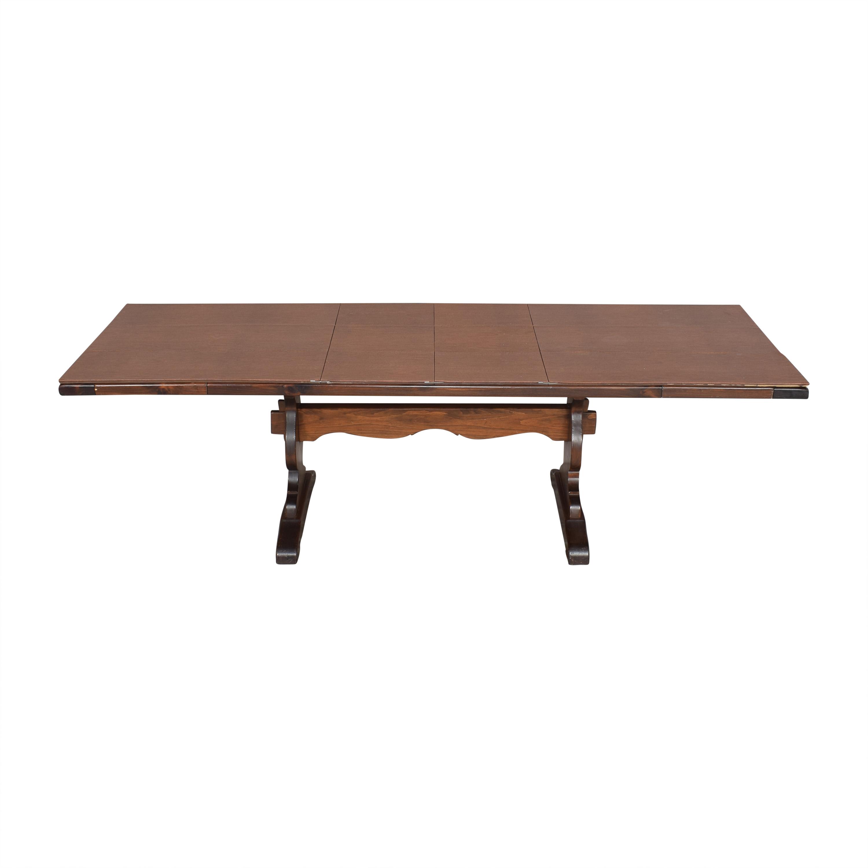 Ethan Allen Ethan Allen Extendable Trestle Dining Table Dinner Tables