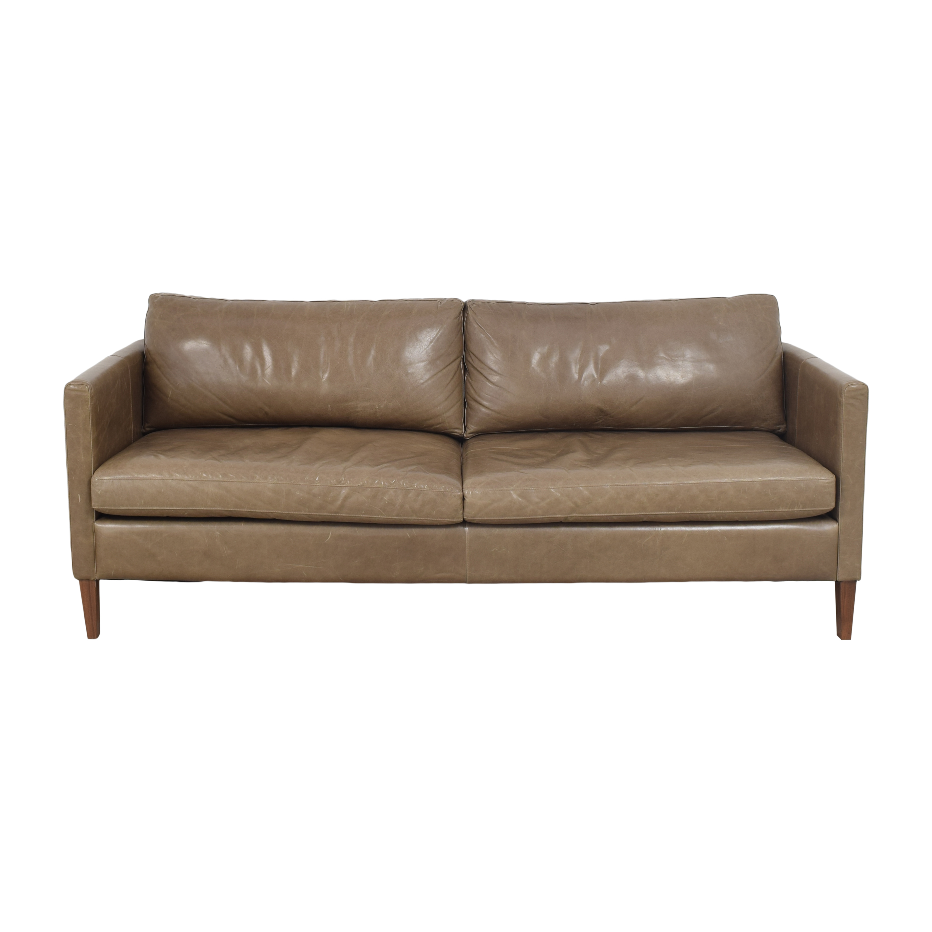 shop American Leather Milo Two Cushion Sofa American Leather