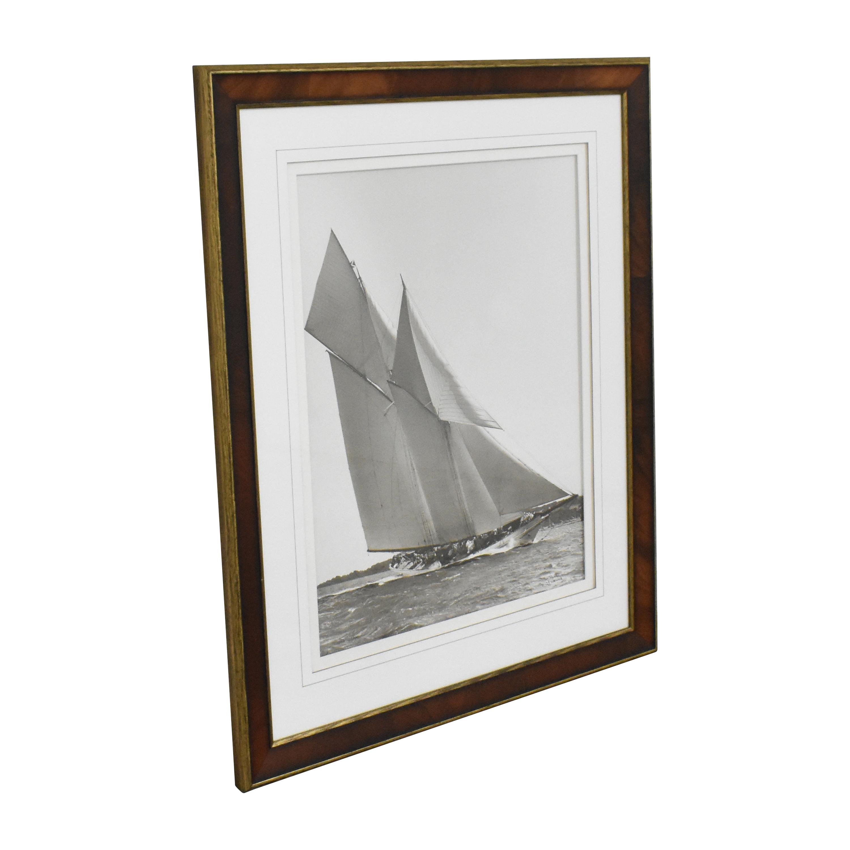 Ethan Allen  Ethan Allen Cetonia 1911 Racing Yacht Framed Art Wall Art
