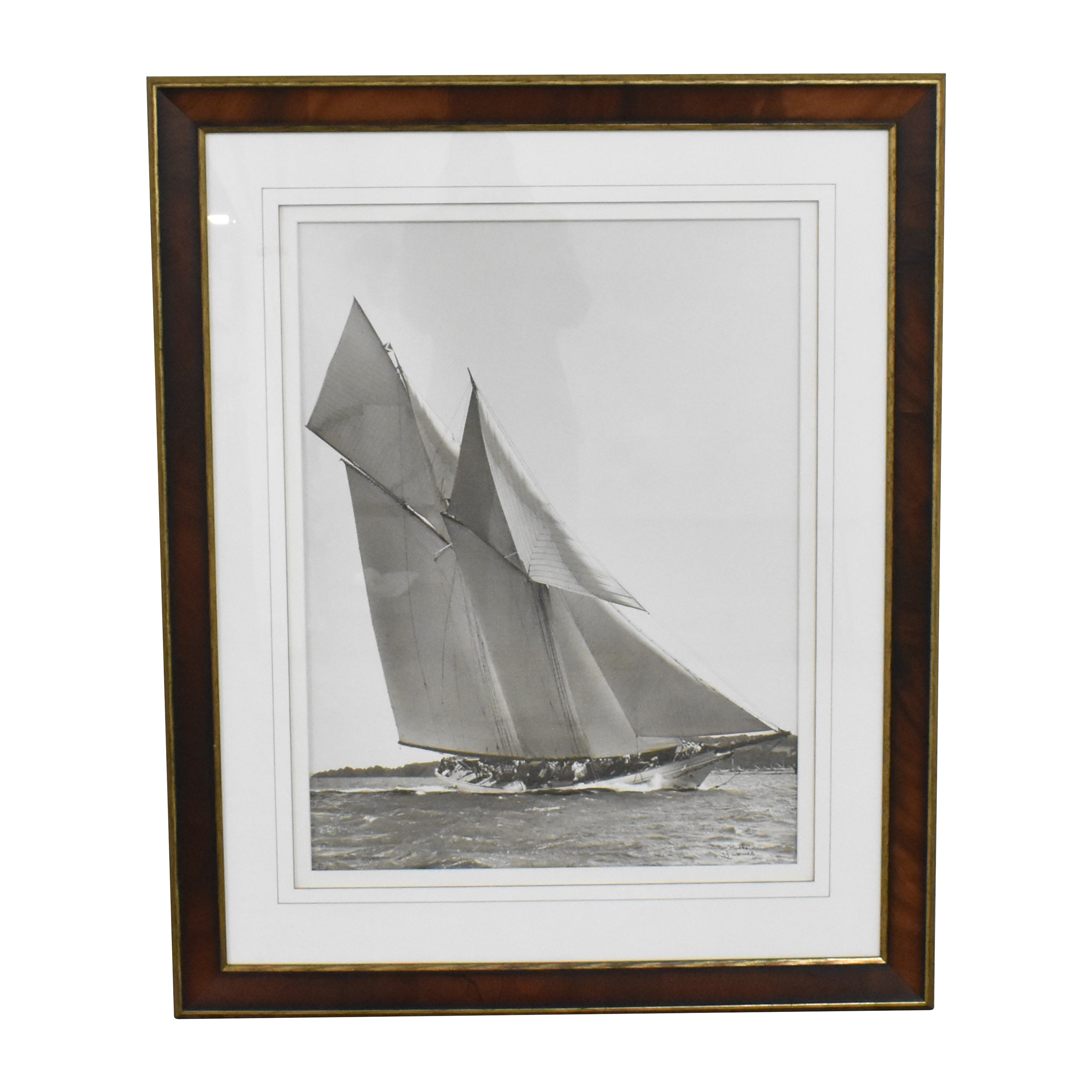Ethan Allen  Ethan Allen Cetonia 1911 Racing Yacht Framed Art nyc