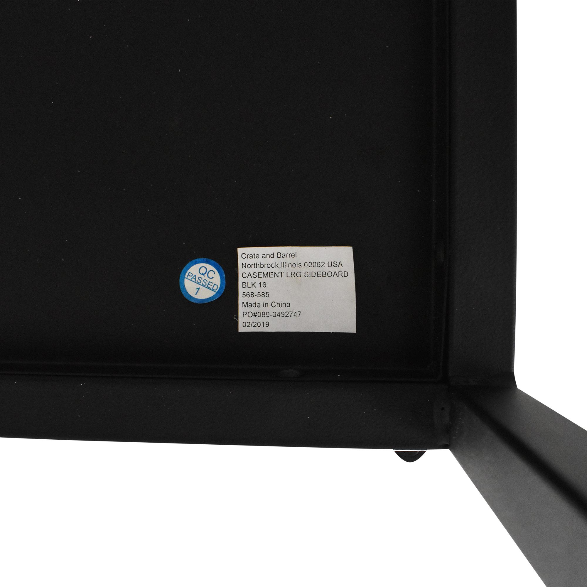 buy Crate & Barrel Casement Large Sideboard Crate & Barrel Storage