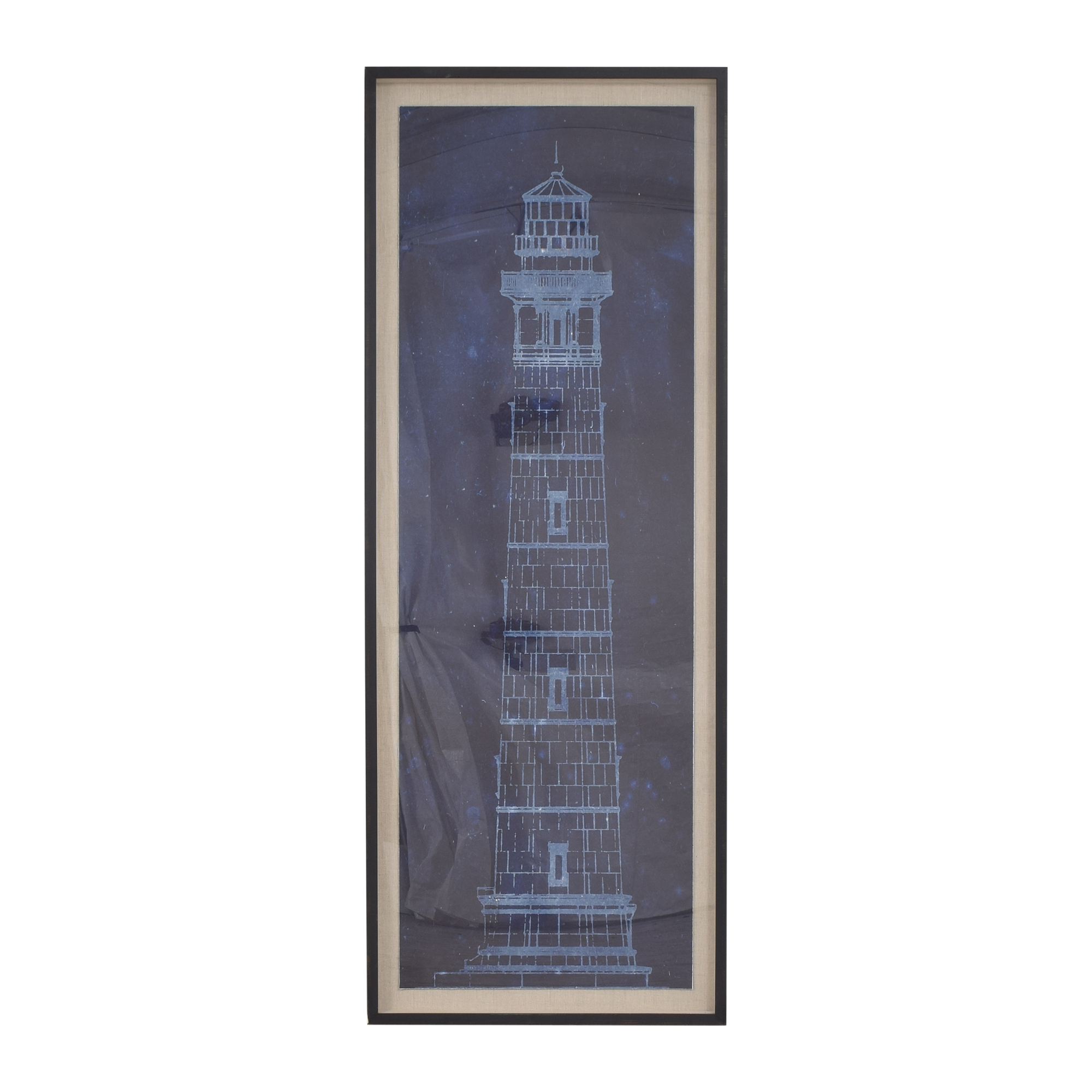 Restoration Hardware Restoration Hardware Cape Henry Lighthouse Blueprint Decor