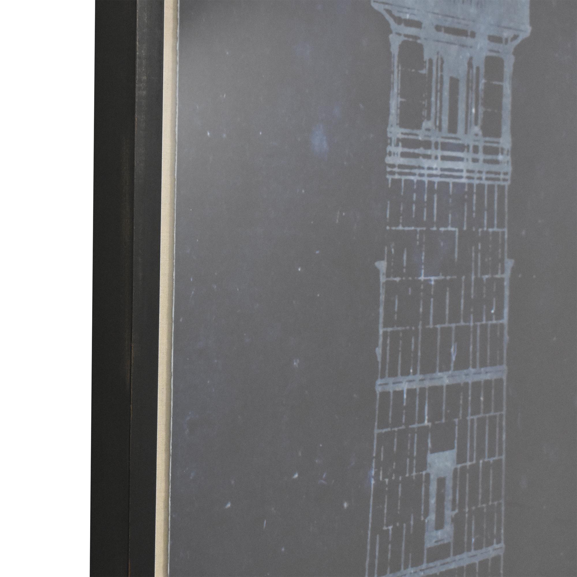 Restoration Hardware Restoration Hardware Cape Henry Lighthouse Blueprint ma