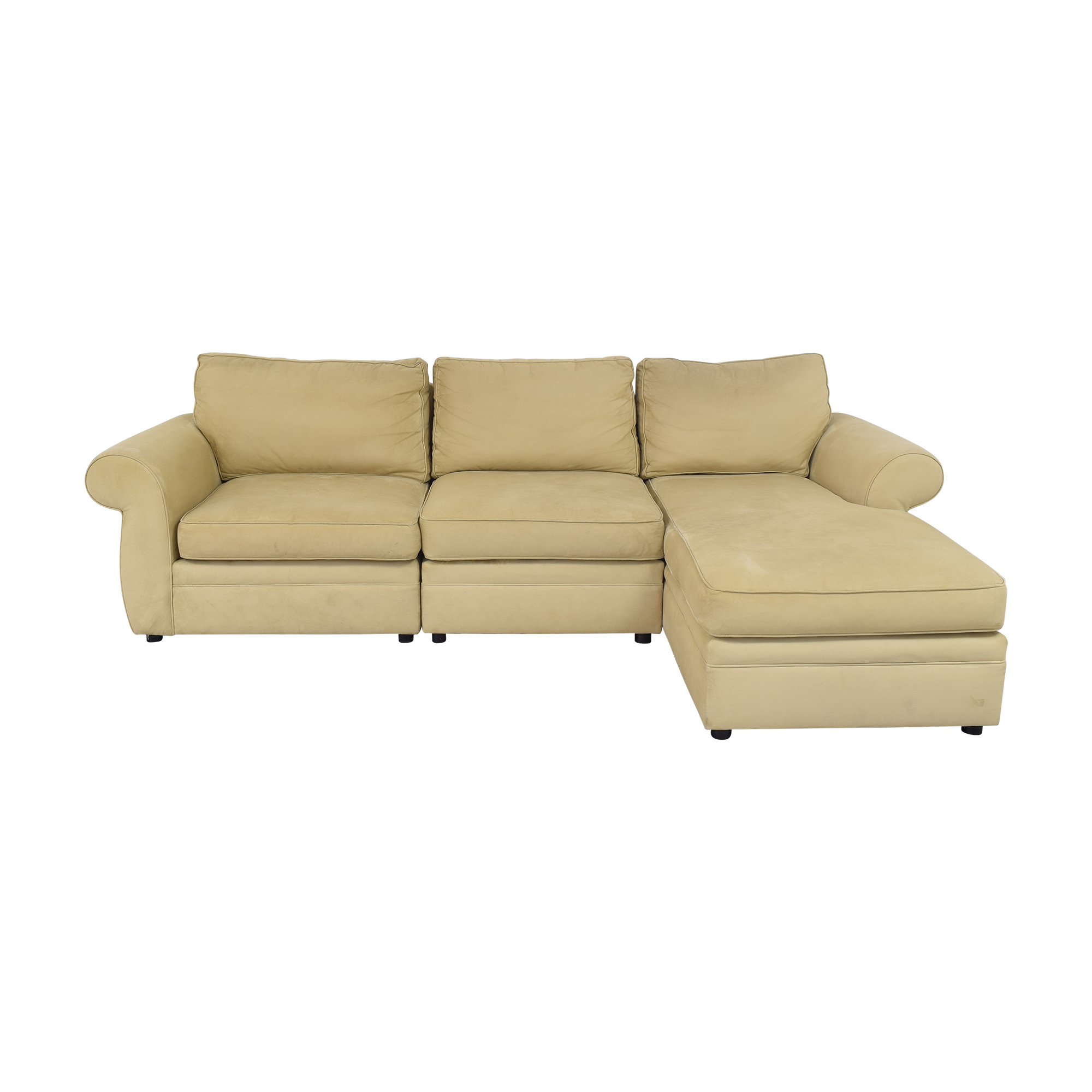 shop Pottery Barn Chaise Sectional Sofa Pottery Barn Sectionals