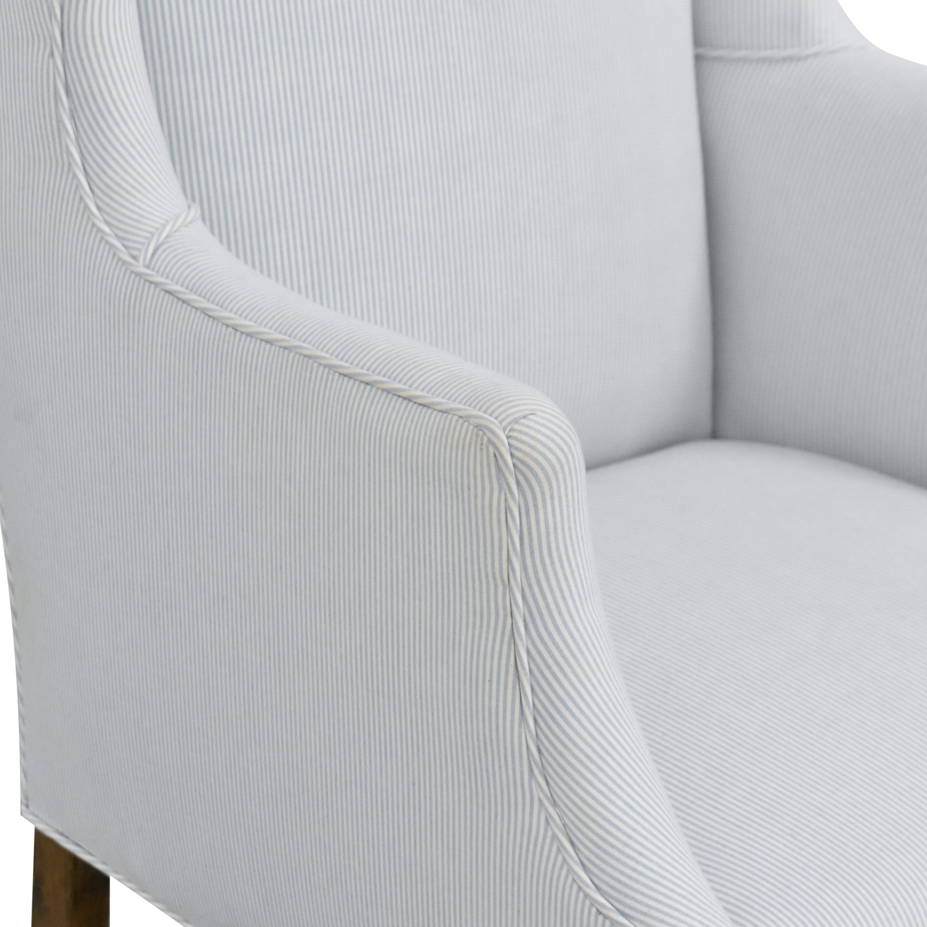Striped Wingback Accent Chair ma