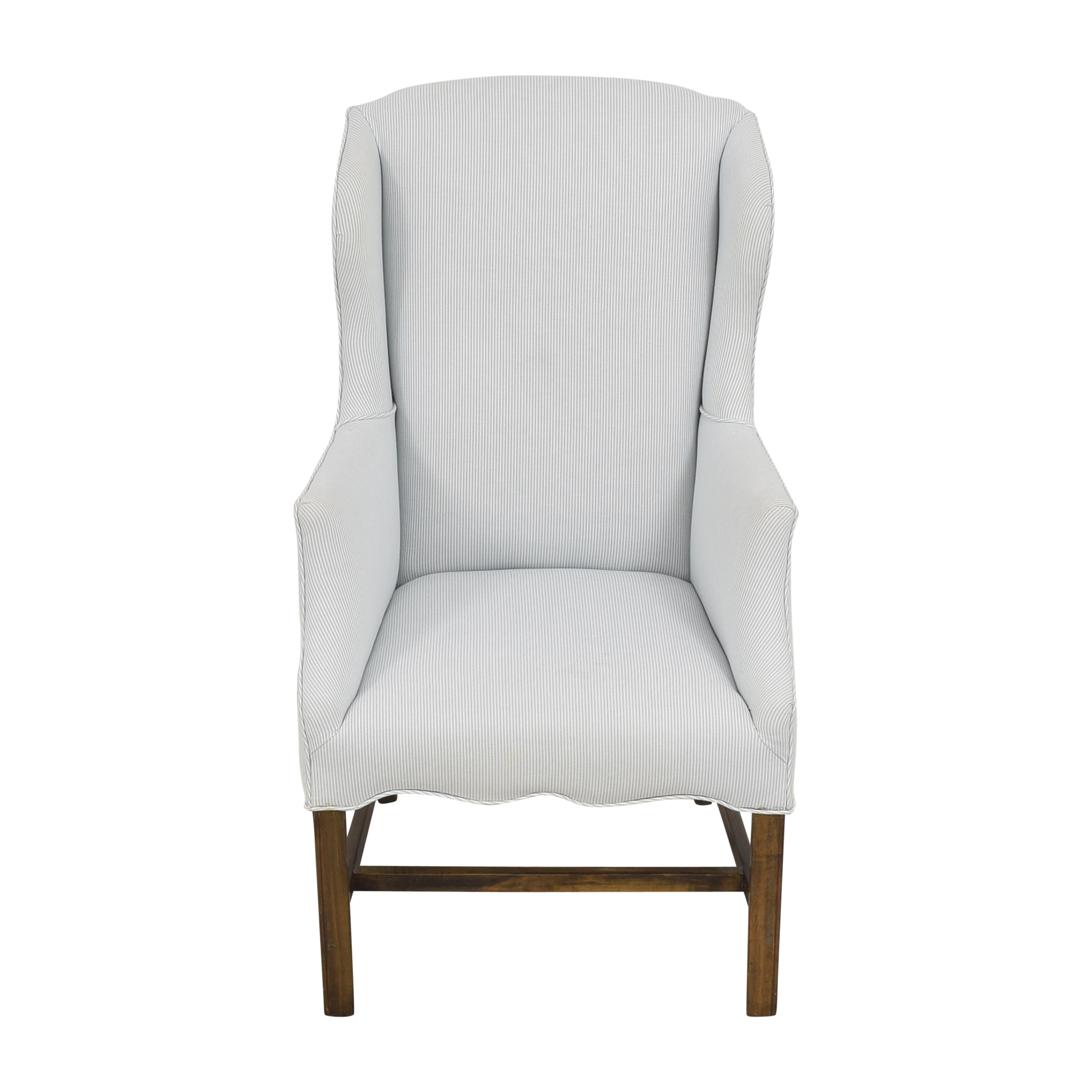 Striped Wingback Accent Chair