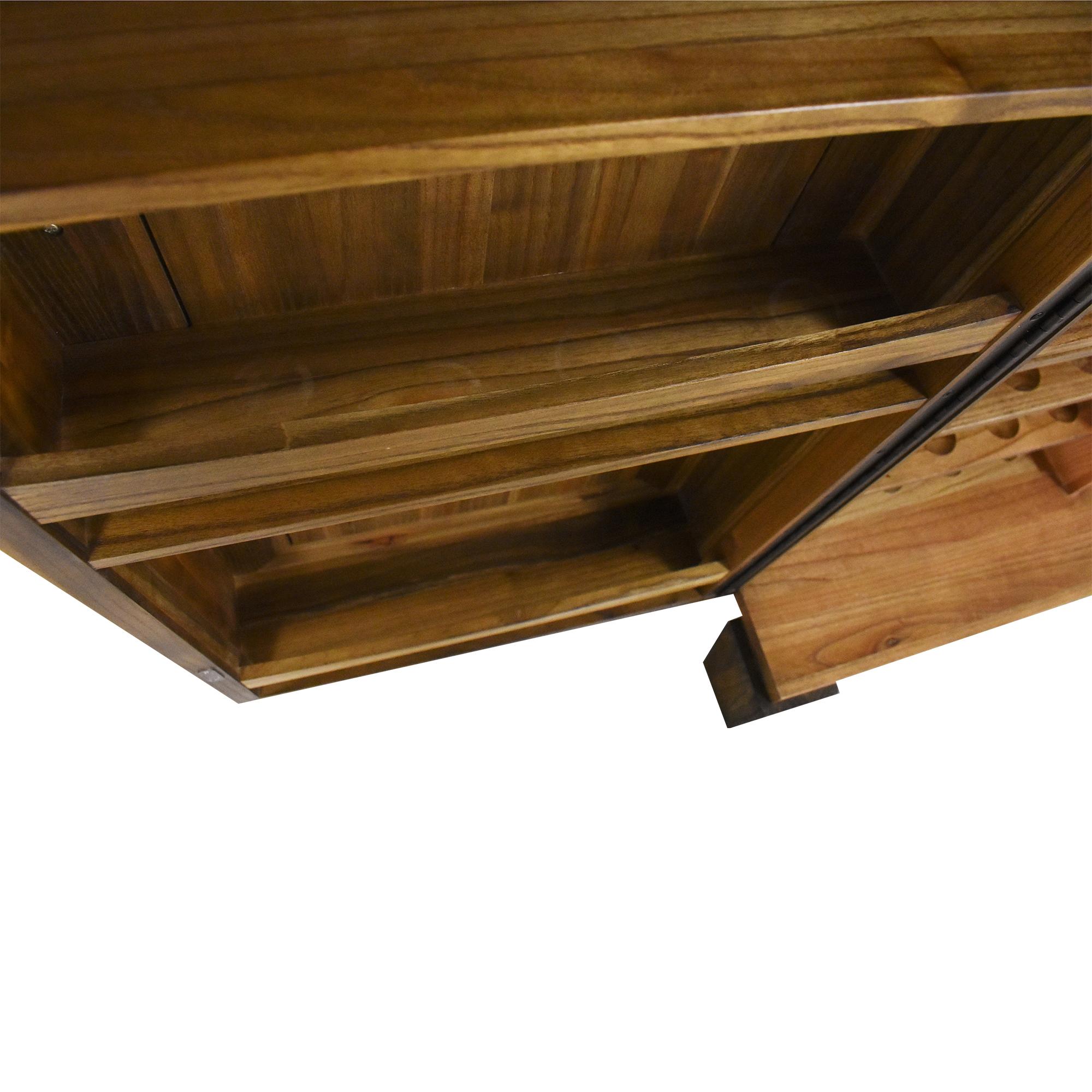 Crate & Barrel Marin Bar Cabinet sale