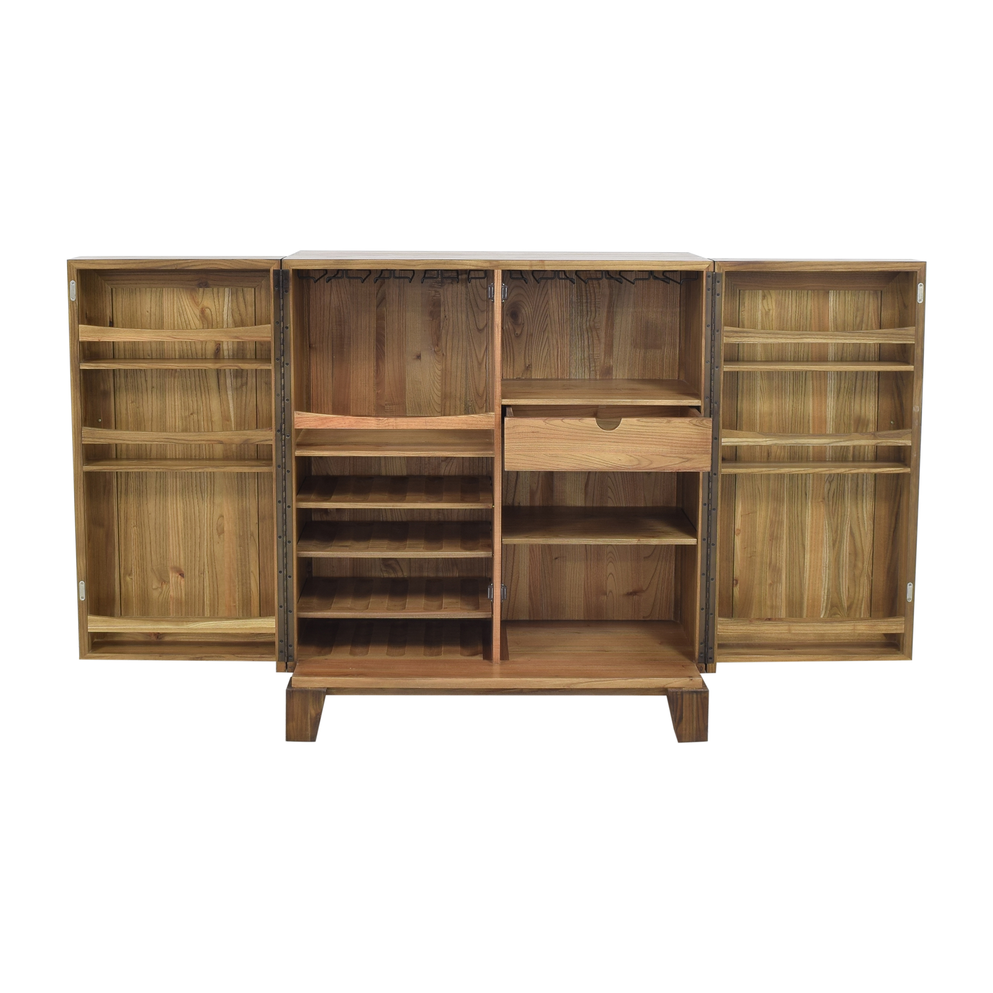 Crate & Barrel Crate & Barrel Marin Bar Cabinet brown