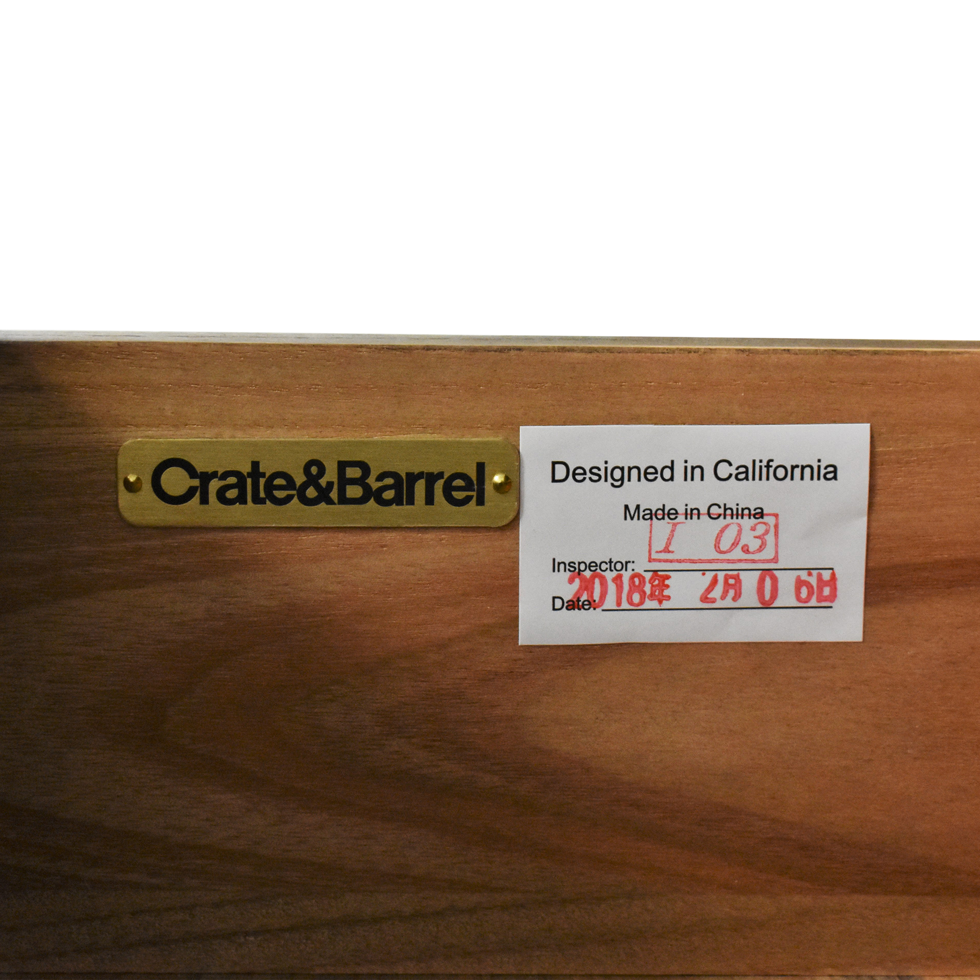 Crate & Barrel Crate & Barrel Marin Bar Cabinet Storage