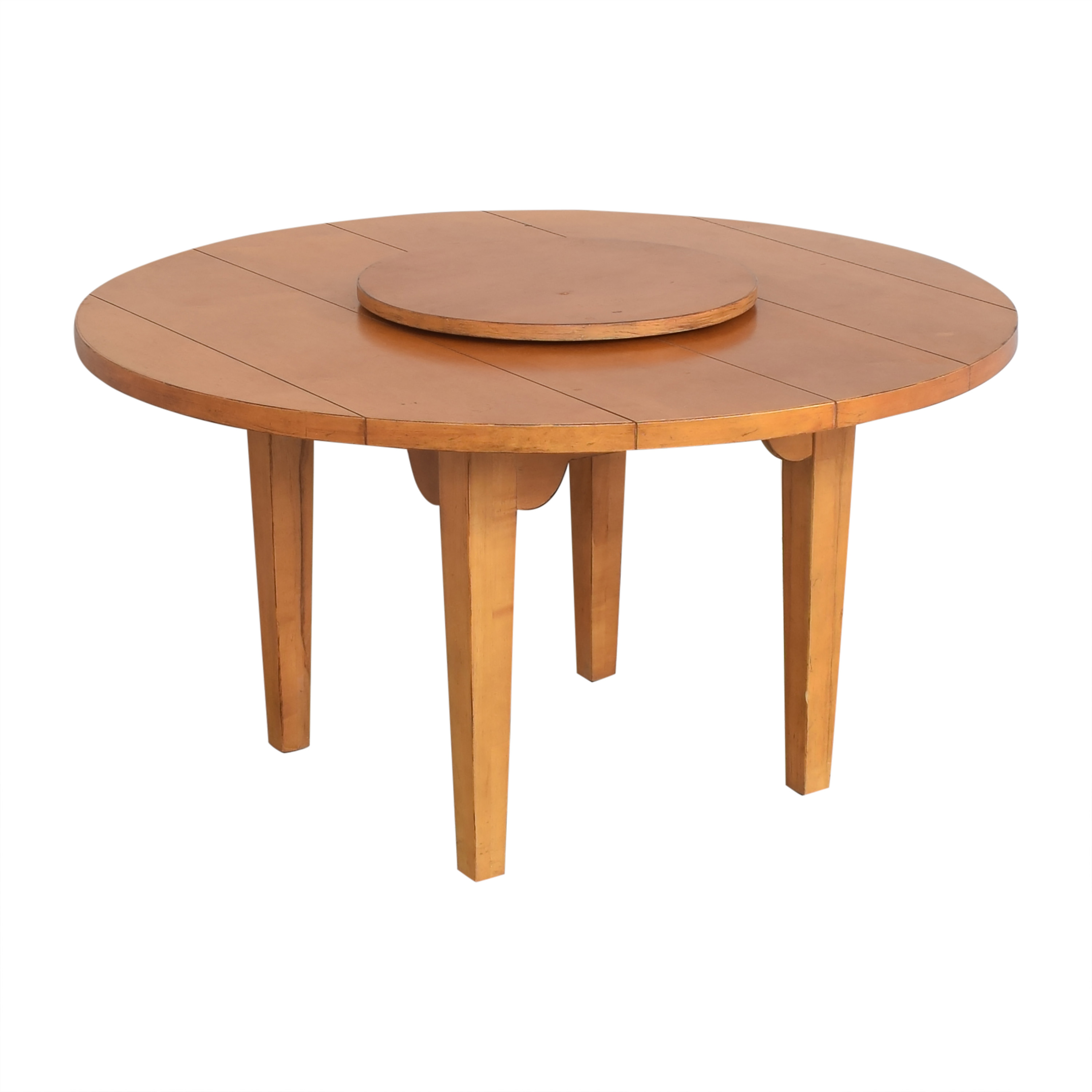 Drexel Heritage Drexel Heritage Round Dining Table with Lazy Susan pa