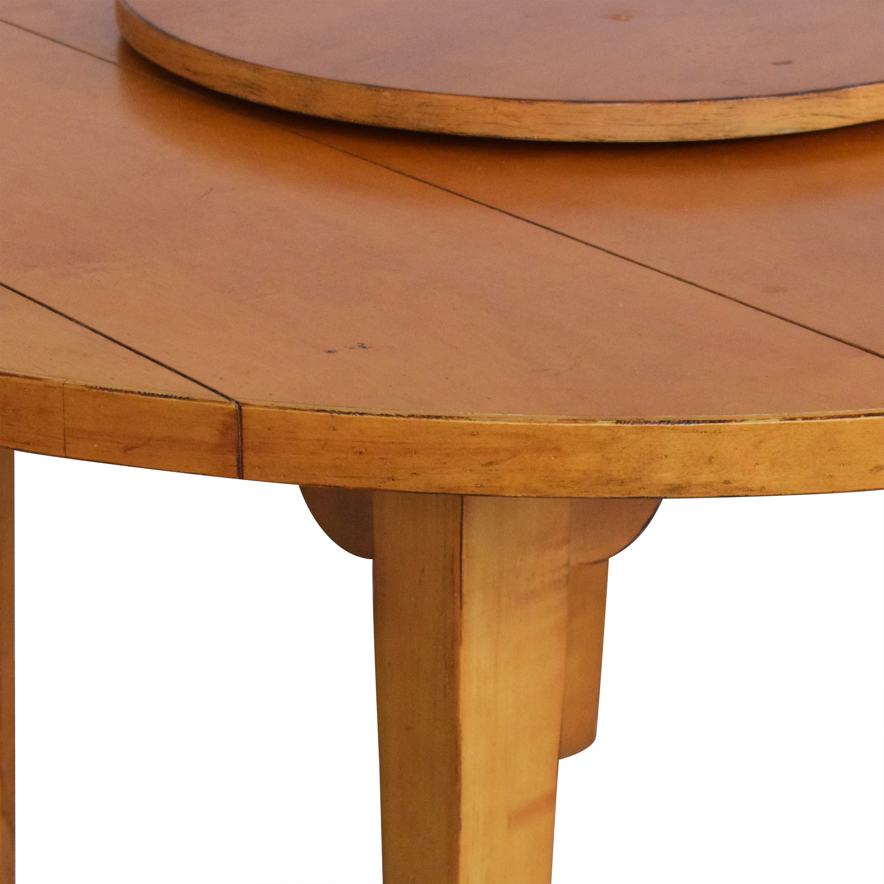 buy Drexel Heritage Round Dining Table with Lazy Susan Drexel Heritage