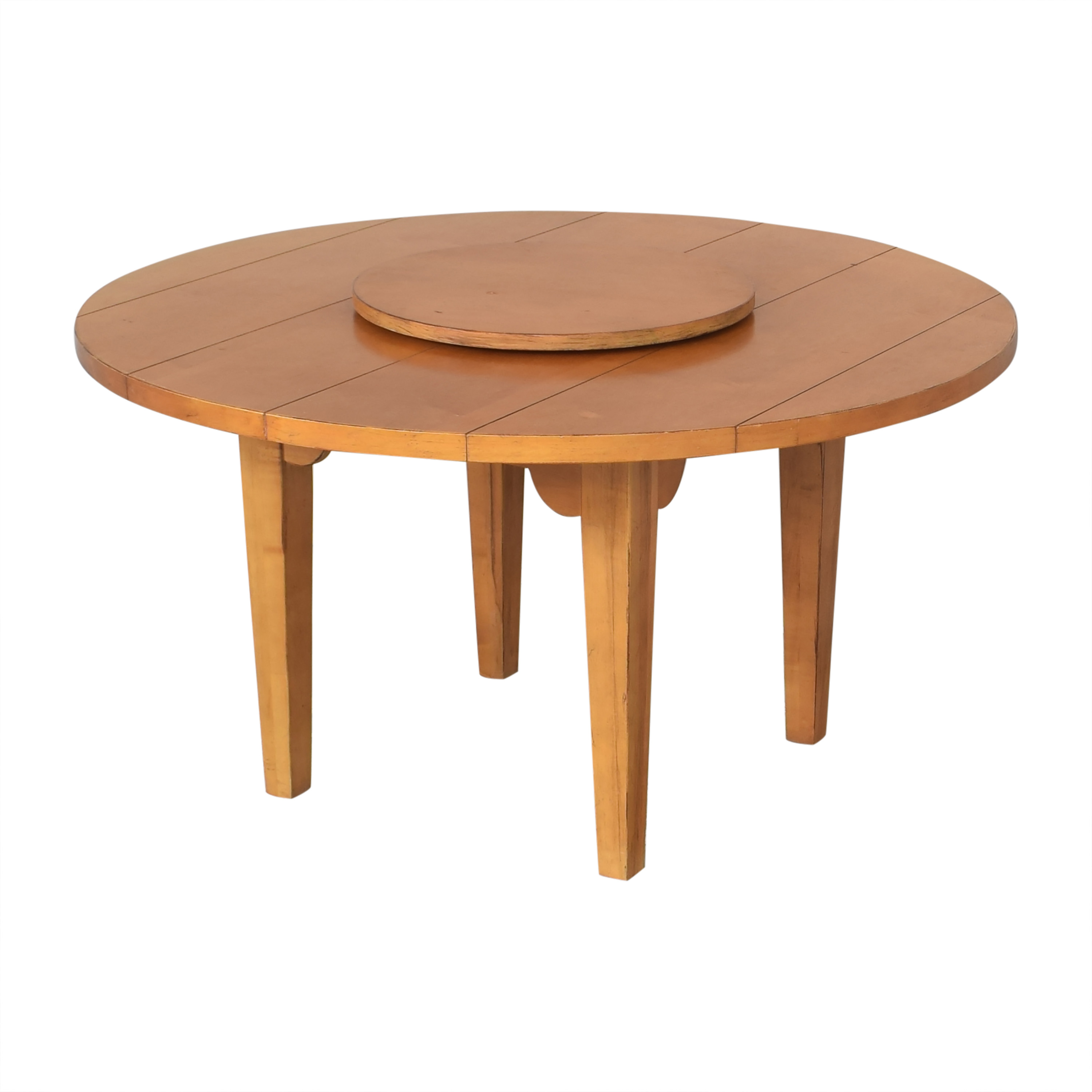 shop Drexel Heritage Round Dining Table with Lazy Susan Drexel Heritage Dinner Tables