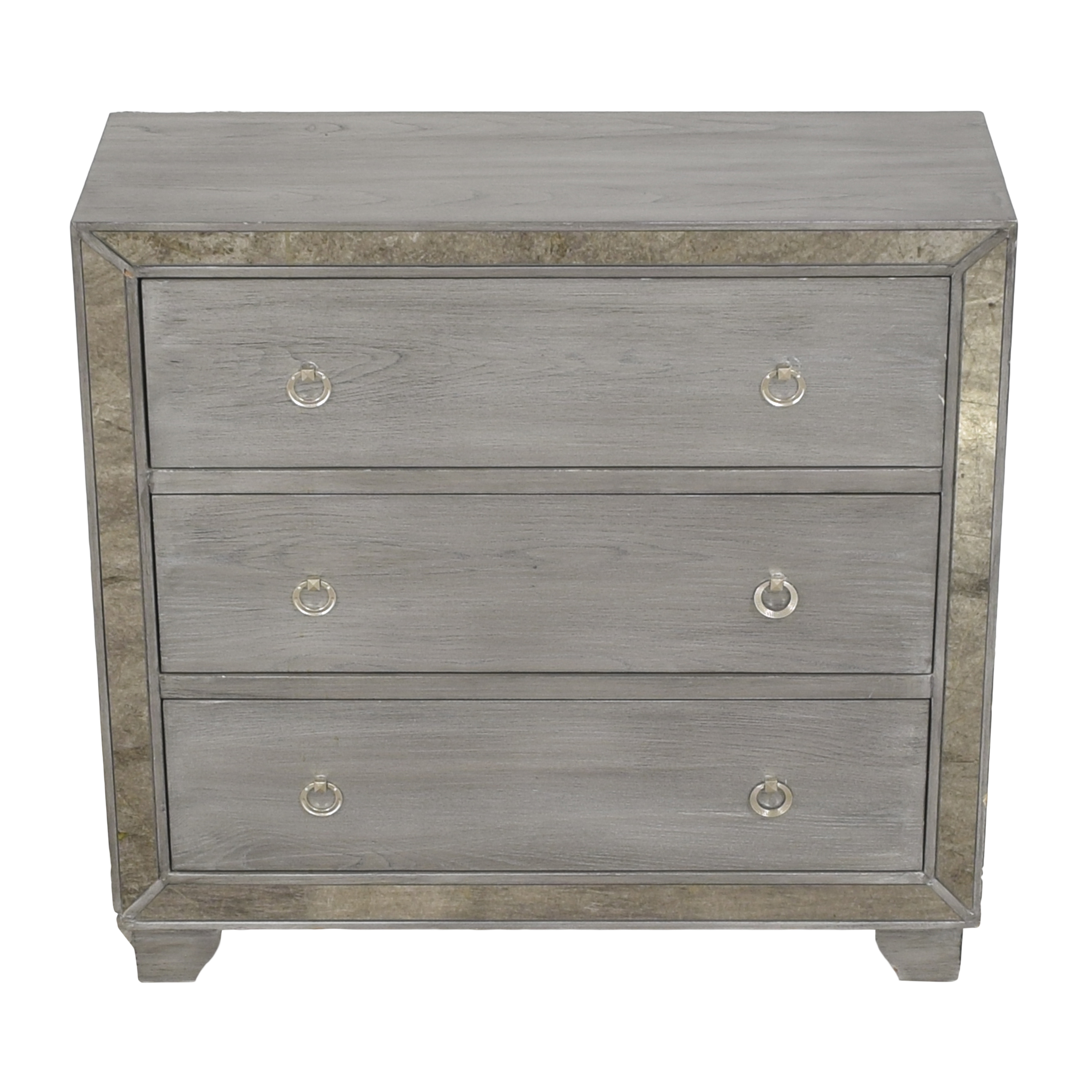 Madison Park Madison Park Amelia Reclaimed Three Drawer Mirrored Chest ma