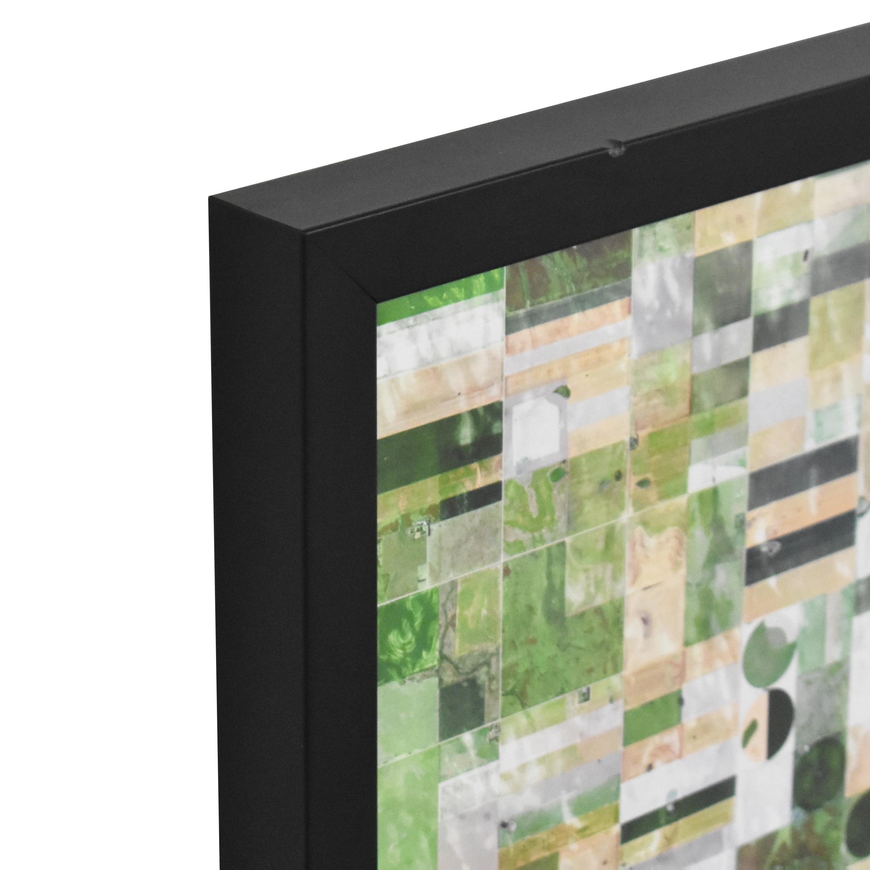 shop CB2 Kansas Pivot Irrigation Framed Wall Art CB2 Wall Art