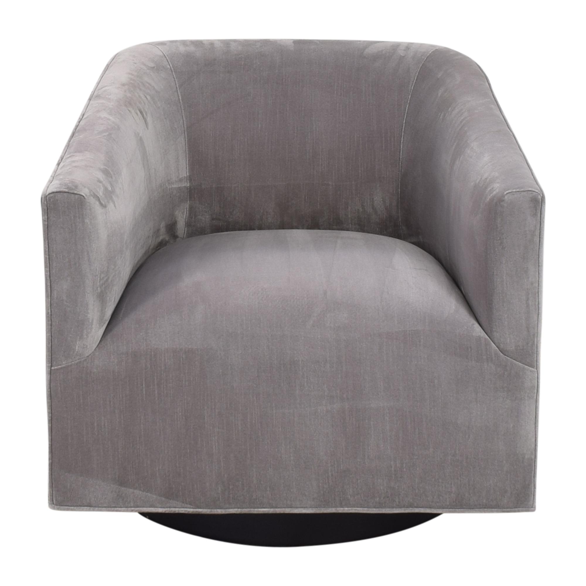 shop Restoration Hardware Italian Shelter Arm Swivel Chair Restoration Hardware Chairs
