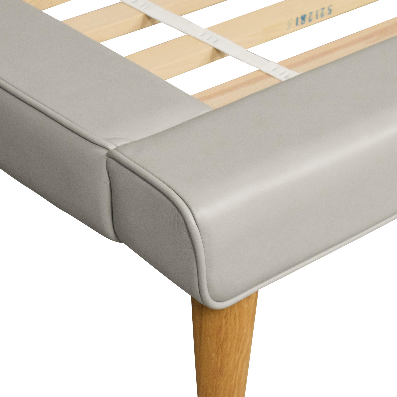 shop West Elm Mod Upholstered Queen Bed West Elm